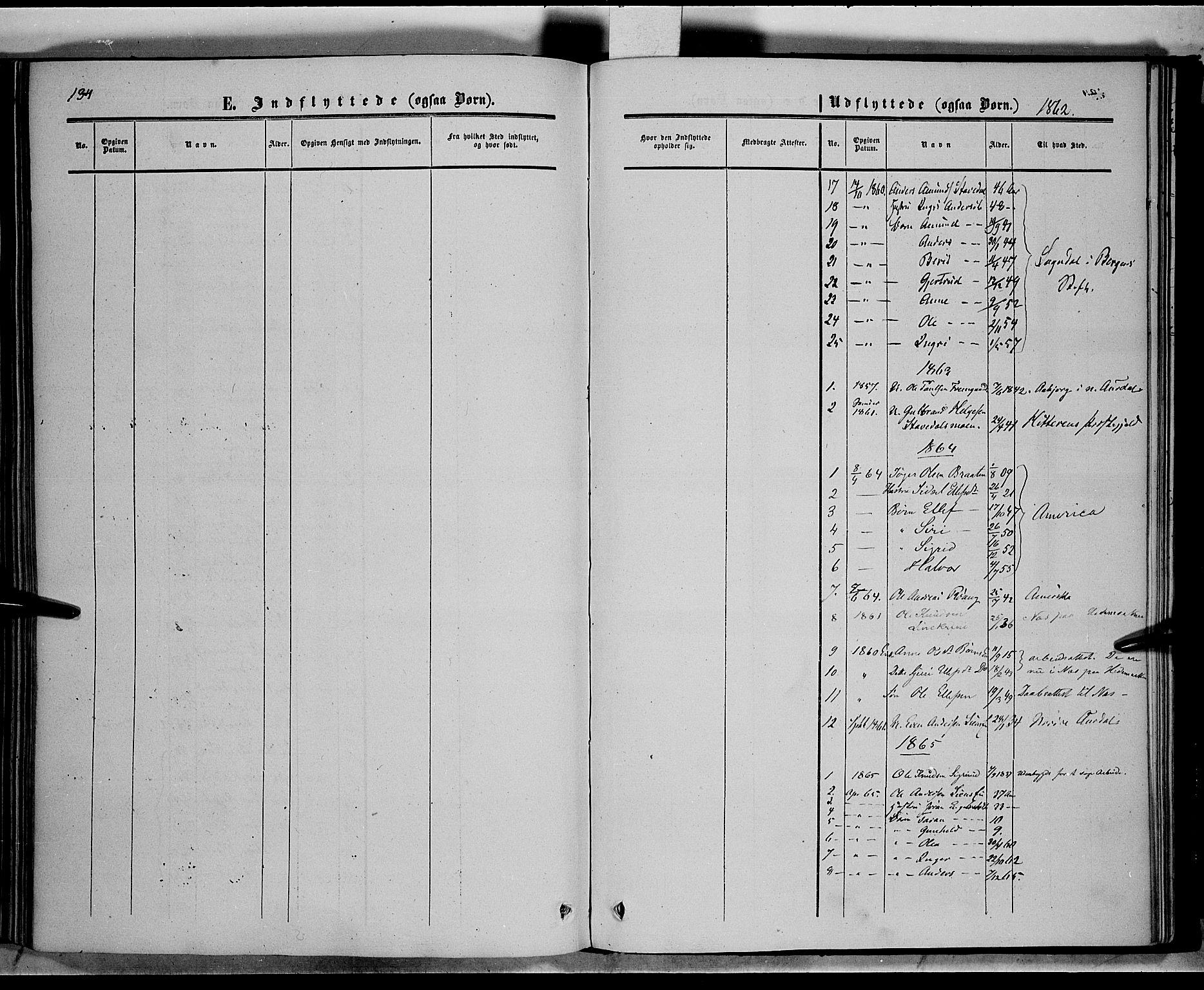 SAH, Sør-Aurdal prestekontor, Ministerialbok nr. 6, 1849-1876, s. 134