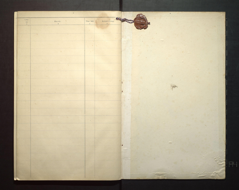 IKAH, Finnaas kommune. Valstyret, F/Fa/L0005: Manntal over røysteføre i Moster sokn, 1904