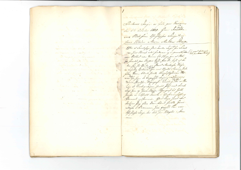 AAKS, Faye, Andreas, F/L0002: Memoarer og dagbøker, 1802-1860, s. 1