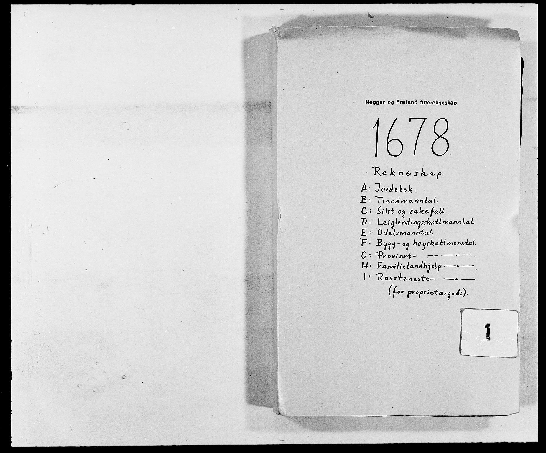 RA, Rentekammeret inntil 1814, Reviderte regnskaper, Fogderegnskap, R06/L0279: Fogderegnskap Heggen og Frøland, 1678-1680, s. 1