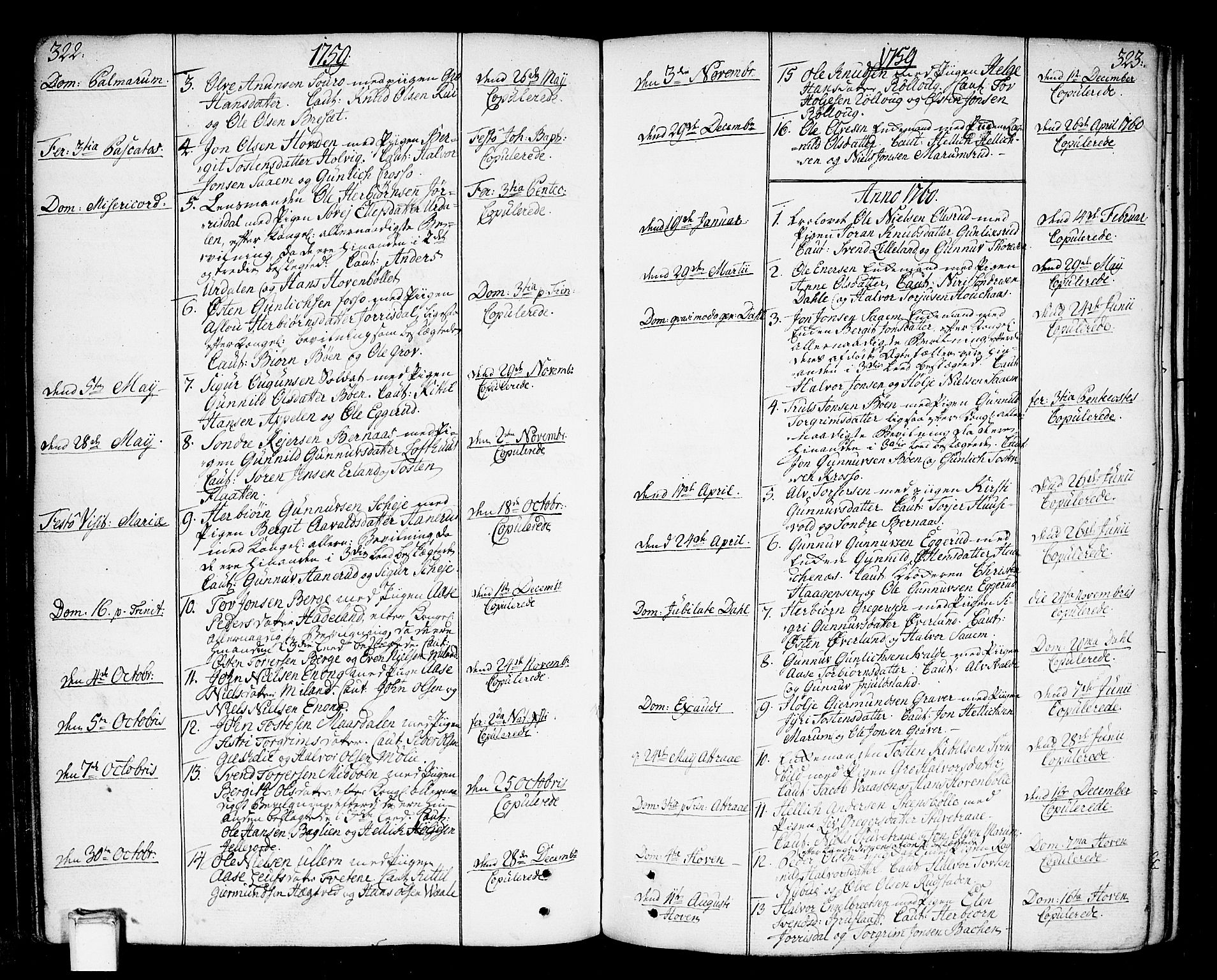 SAKO, Tinn kirkebøker, F/Fa/L0002: Ministerialbok nr. I 2, 1757-1810, s. 322-323