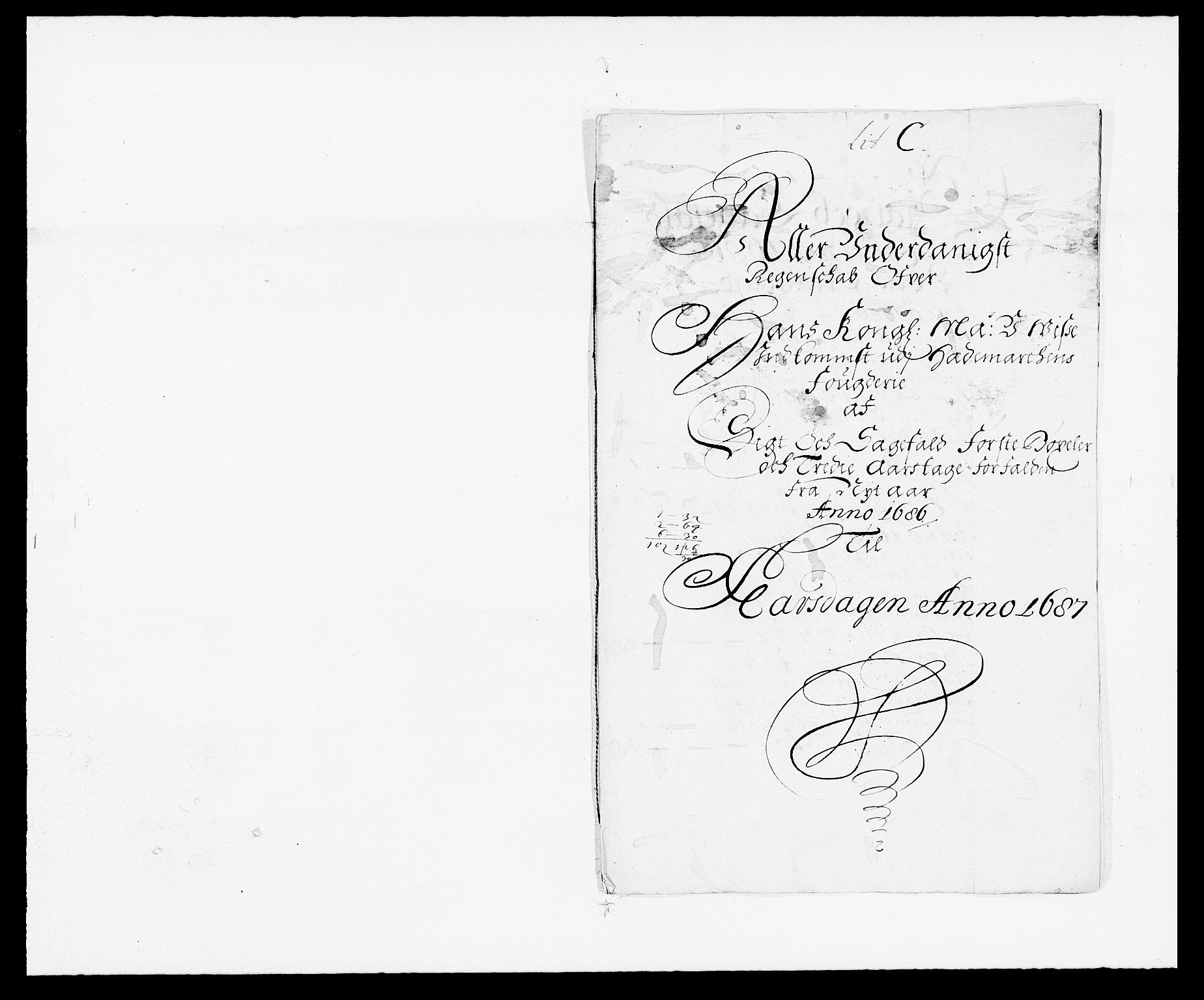 RA, Rentekammeret inntil 1814, Reviderte regnskaper, Fogderegnskap, R16/L1027: Fogderegnskap Hedmark, 1686, s. 255