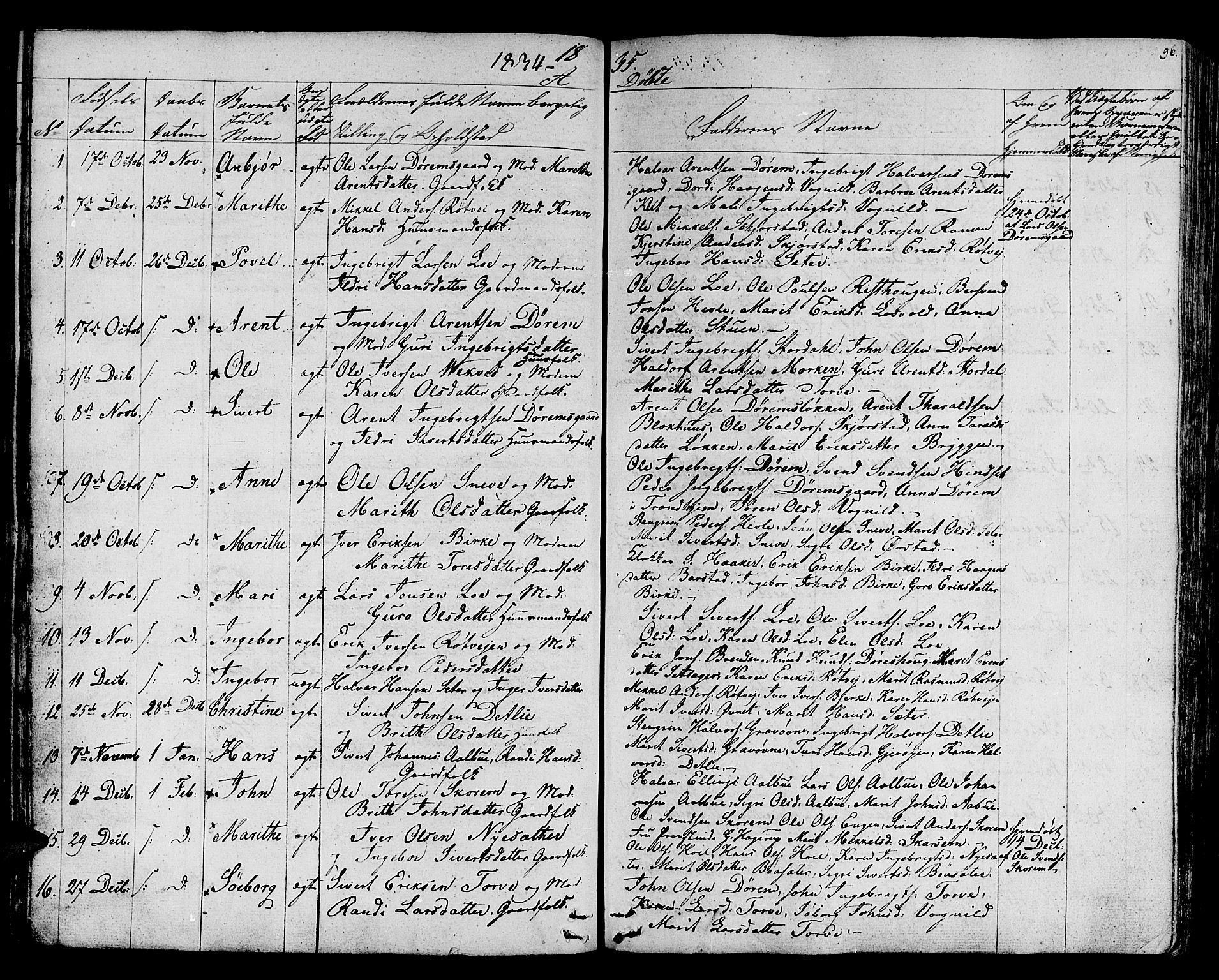 SAT, Ministerialprotokoller, klokkerbøker og fødselsregistre - Sør-Trøndelag, 678/L0897: Ministerialbok nr. 678A06-07, 1821-1847, s. 96