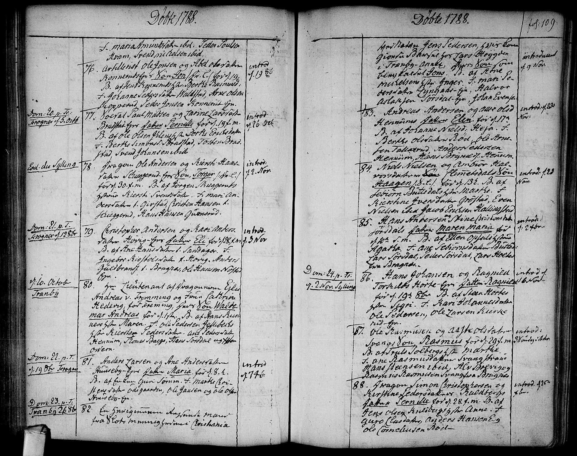 SAKO, Lier kirkebøker, F/Fa/L0006: Ministerialbok nr. I 6, 1777-1794, s. 109
