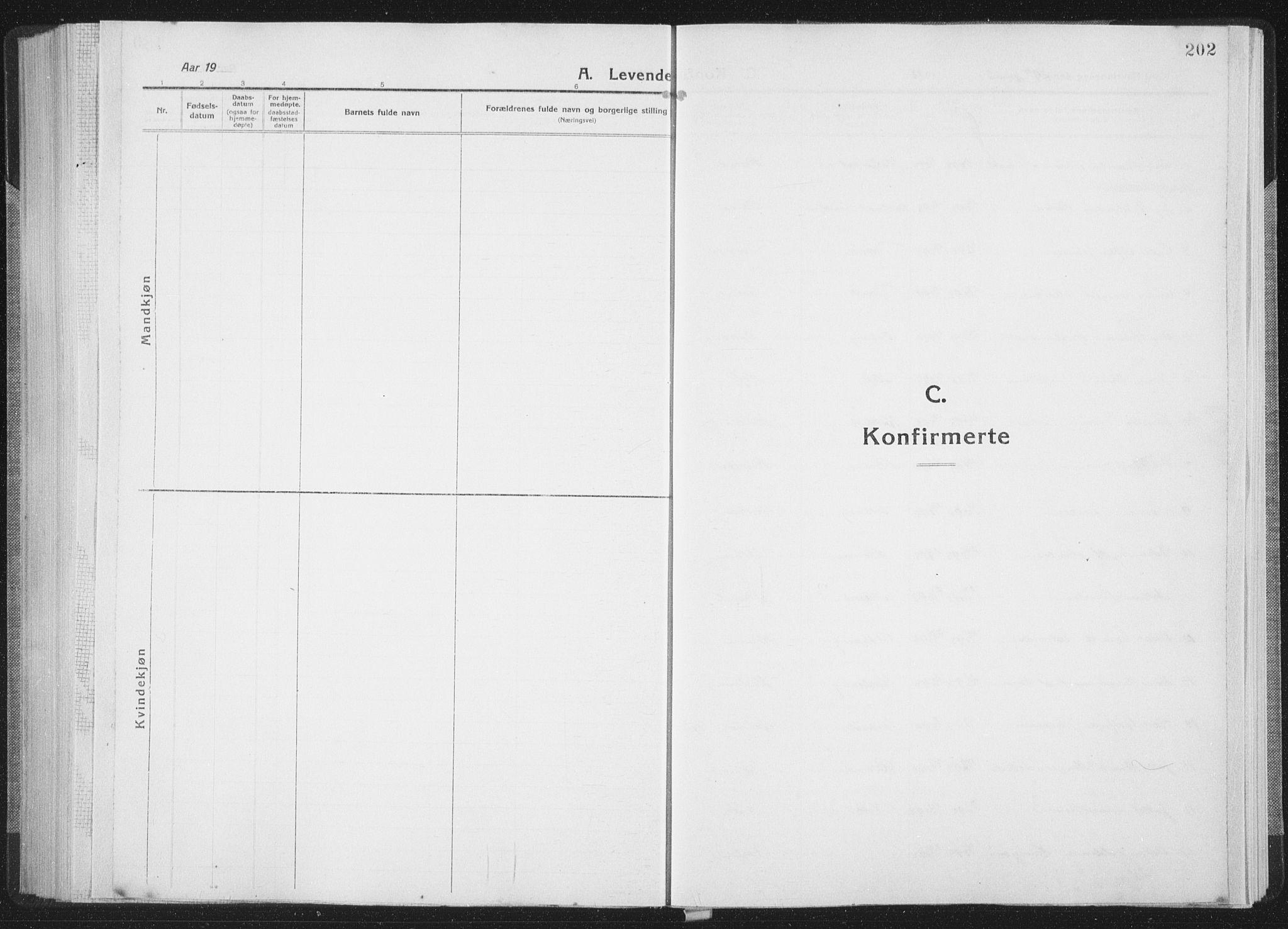 SAT, Ministerialprotokoller, klokkerbøker og fødselsregistre - Sør-Trøndelag, 659/L0747: Klokkerbok nr. 659C04, 1913-1938, s. 202