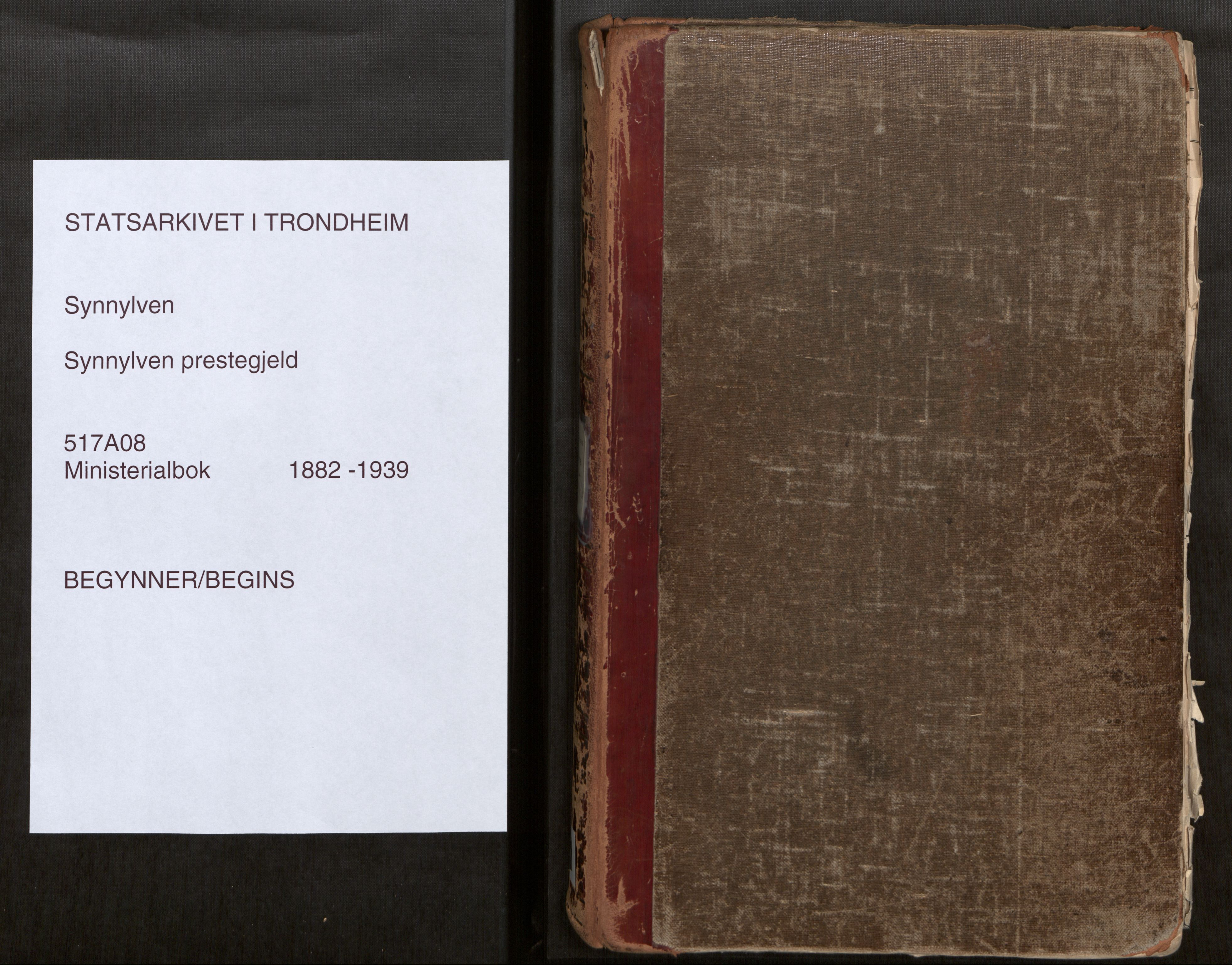 SAT, Sunnylven sokneprestkontor, Ministerialbok nr. 517A08, 1882-1939