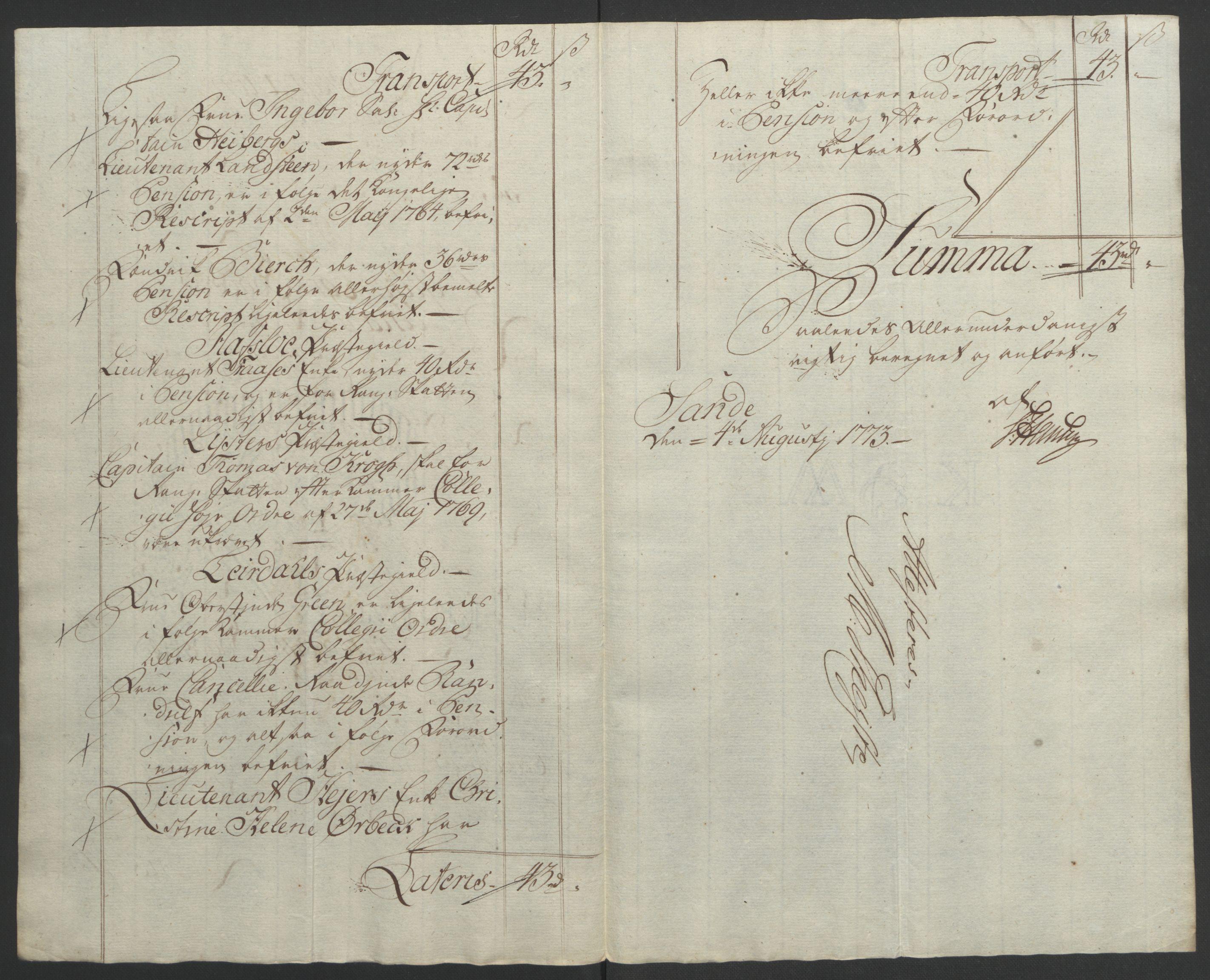 RA, Rentekammeret inntil 1814, Realistisk ordnet avdeling, Ol/L0018: [Gg 10]: Ekstraskatten, 23.09.1762. Sogn, 1762-1772, s. 377