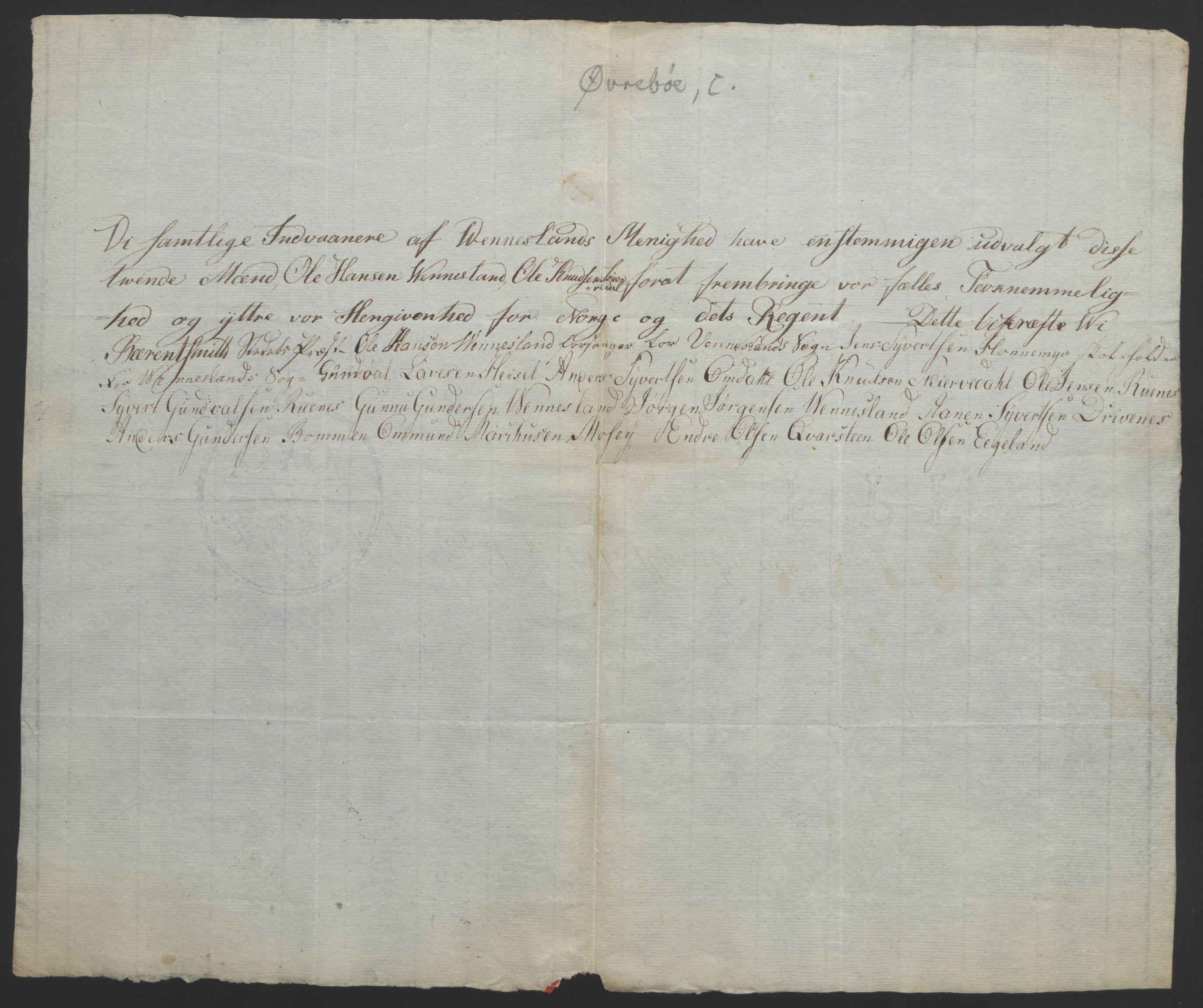 RA, Statsrådssekretariatet, D/Db/L0008: Fullmakter for Eidsvollsrepresentantene i 1814. , 1814, s. 146