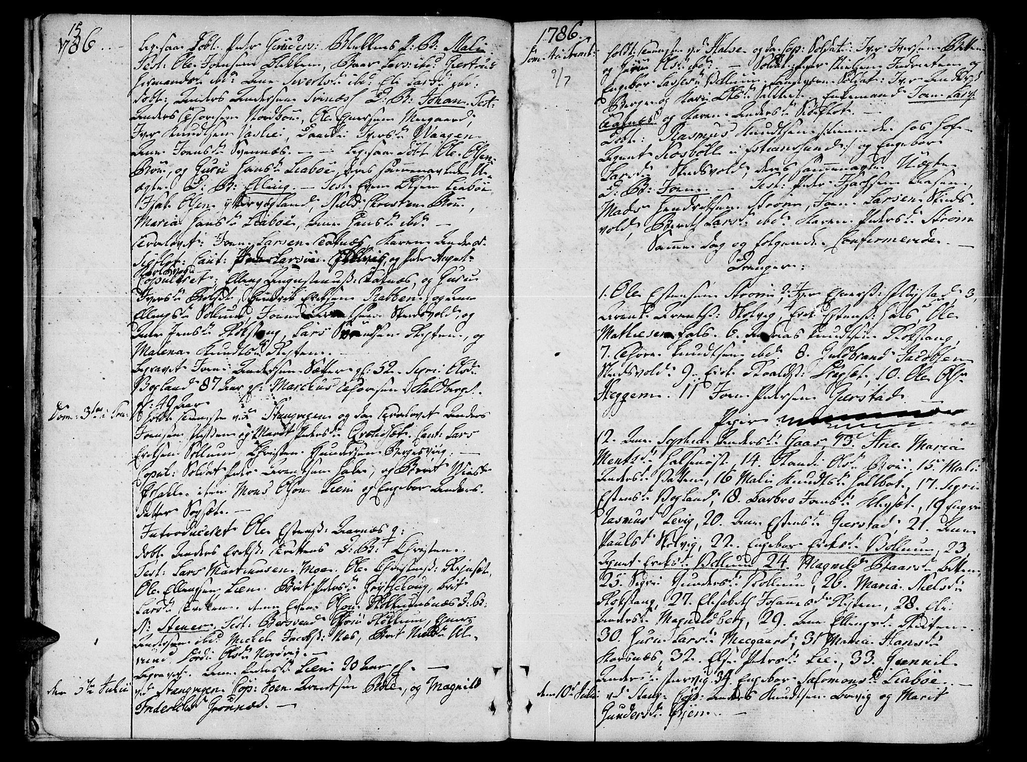 SAT, Ministerialprotokoller, klokkerbøker og fødselsregistre - Møre og Romsdal, 592/L1022: Ministerialbok nr. 592A01, 1784-1819, s. 15