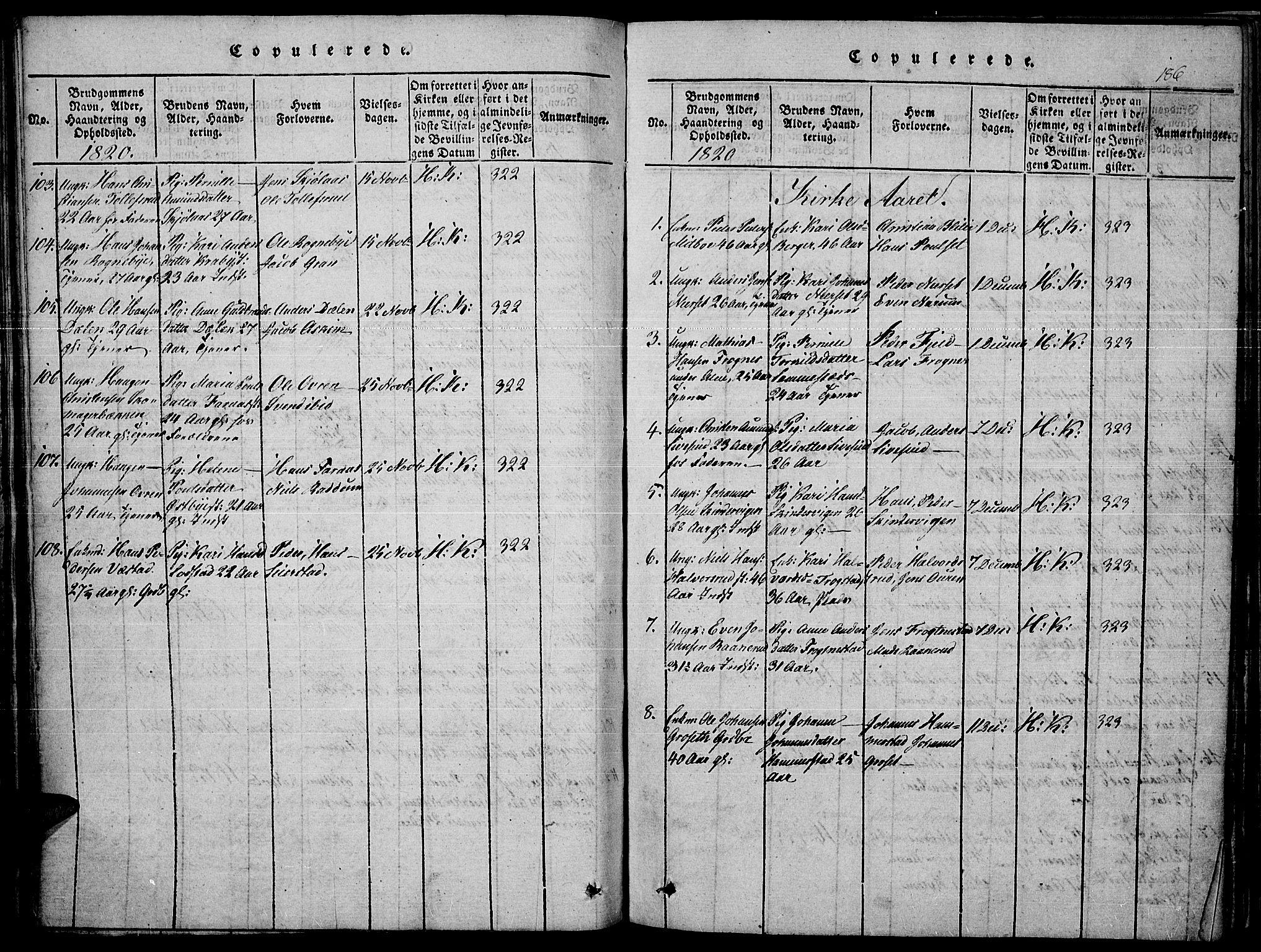 SAH, Toten prestekontor, Ministerialbok nr. 10, 1820-1828, s. 186