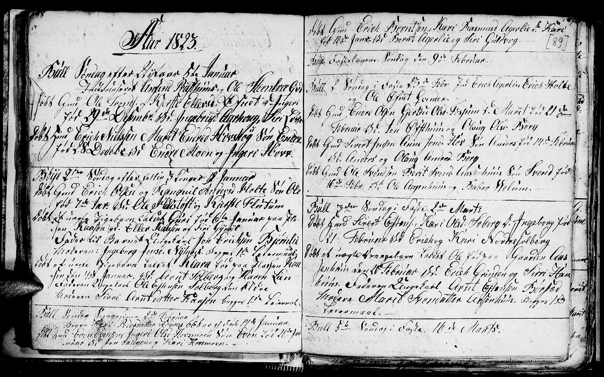 SAT, Ministerialprotokoller, klokkerbøker og fødselsregistre - Sør-Trøndelag, 689/L1042: Klokkerbok nr. 689C01, 1812-1841, s. 88-89