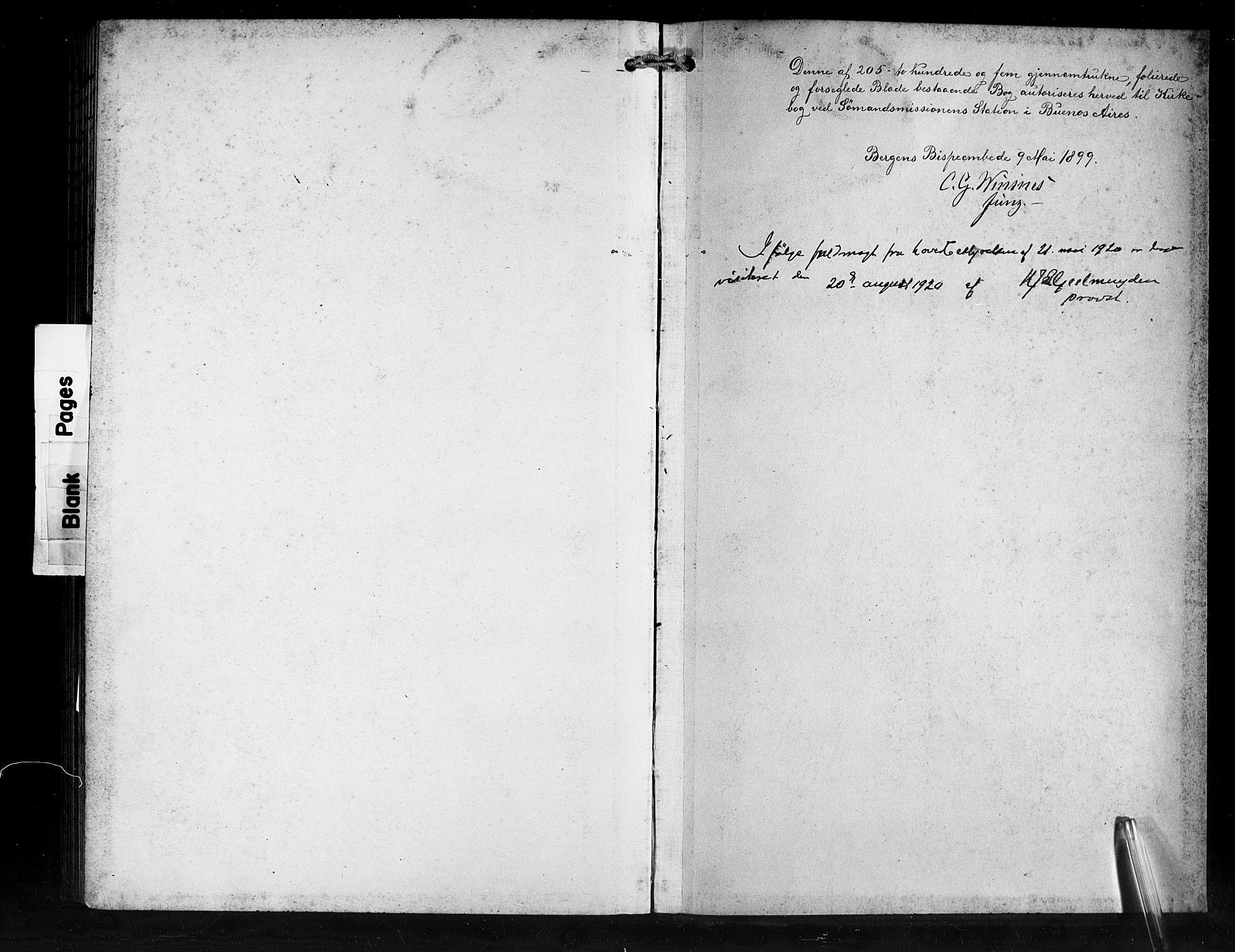 SAB, Den Norske Sjømannsmisjon i utlandet*, Ministerialbok nr. A 2, 1899-1919