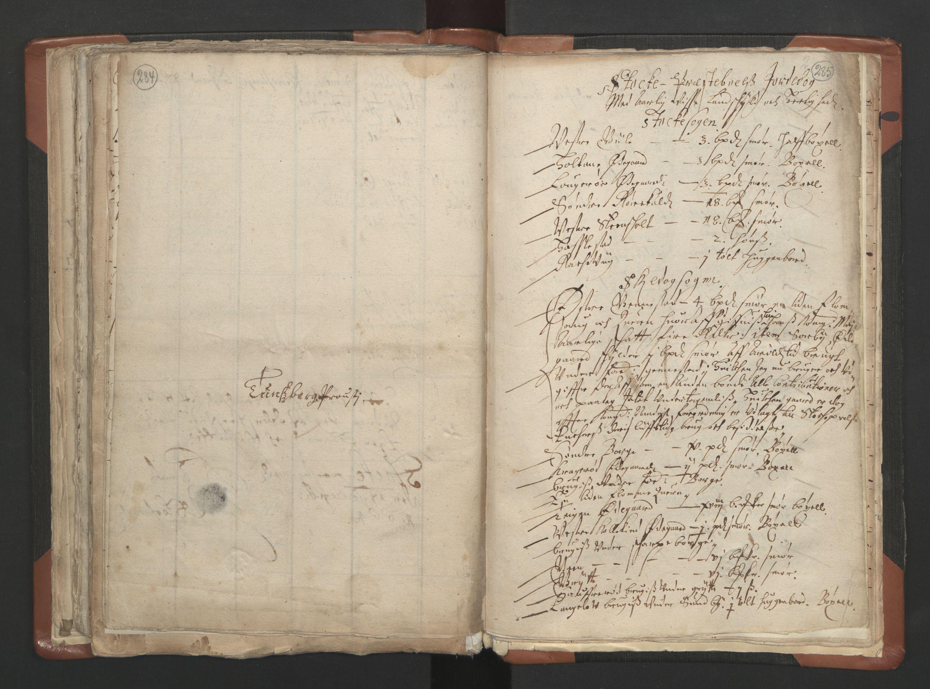 RA, Sogneprestenes manntall 1664-1666, nr. 10: Tønsberg prosti, 1664-1666, s. 284-285