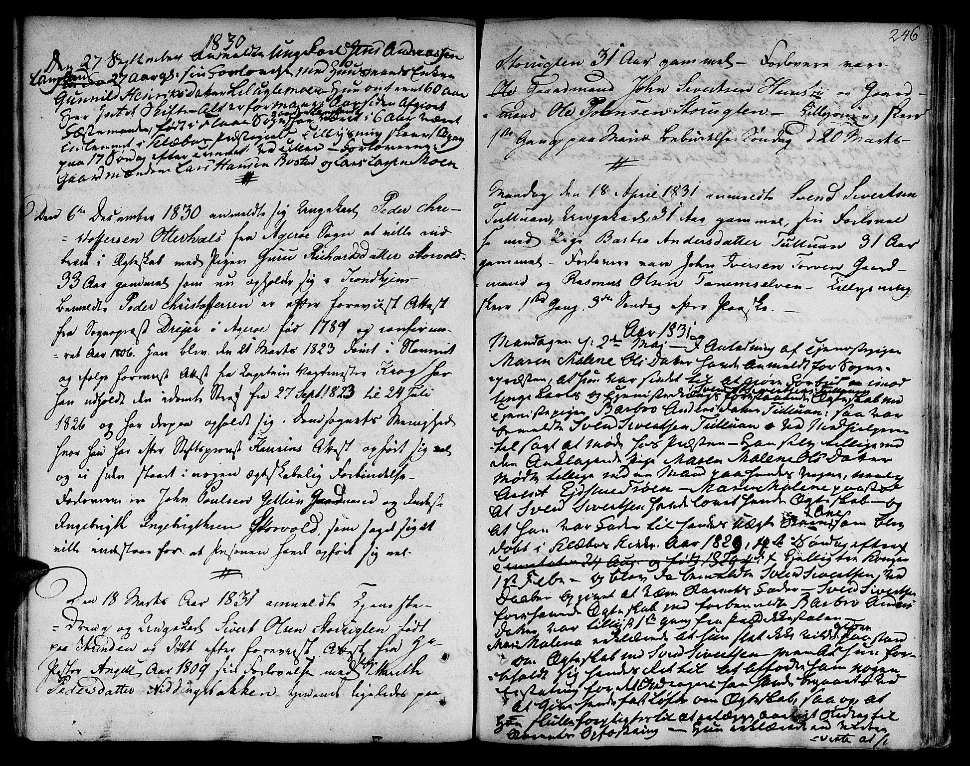 SAT, Ministerialprotokoller, klokkerbøker og fødselsregistre - Sør-Trøndelag, 618/L0438: Ministerialbok nr. 618A03, 1783-1815, s. 246