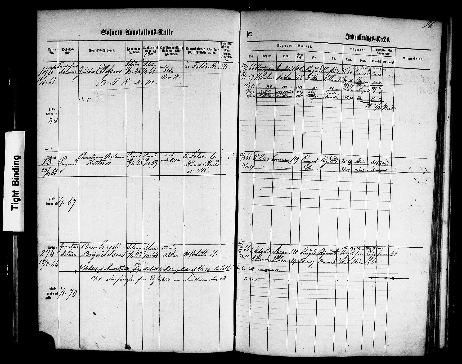 SAKO, Porsgrunn innrulleringskontor, F/Fb/L0001: Annotasjonsrulle, 1860-1868, s. 125