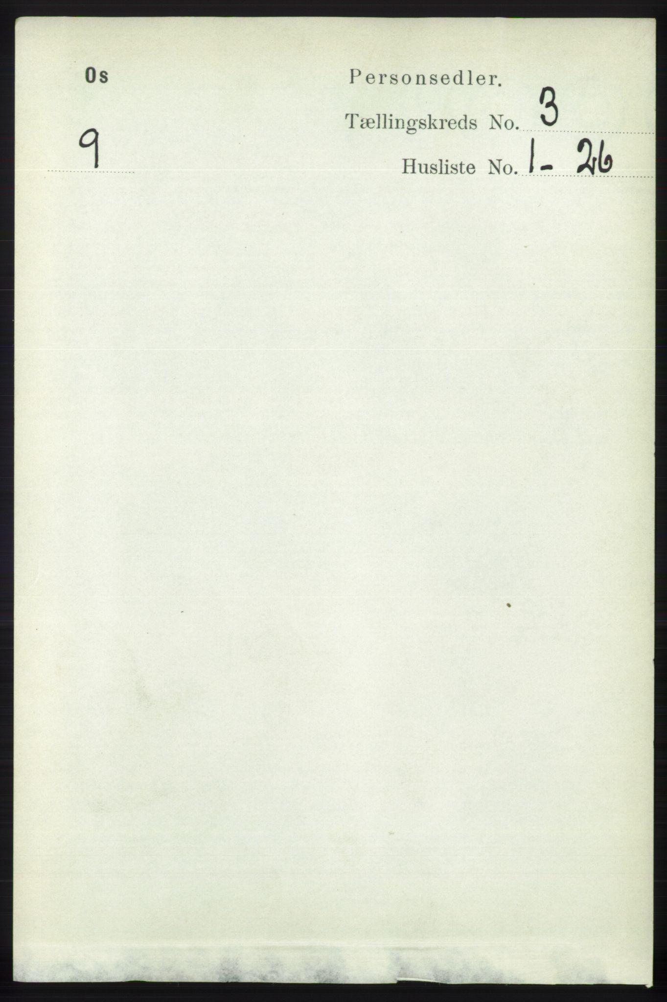 RA, Folketelling 1891 for 1243 Os herred, 1891, s. 885