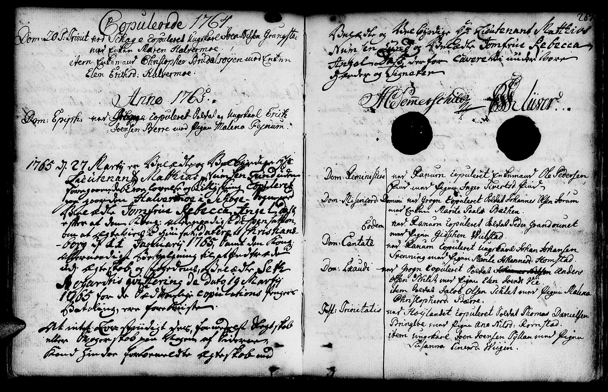 SAT, Ministerialprotokoller, klokkerbøker og fødselsregistre - Nord-Trøndelag, 764/L0542: Ministerialbok nr. 764A02, 1748-1779, s. 267