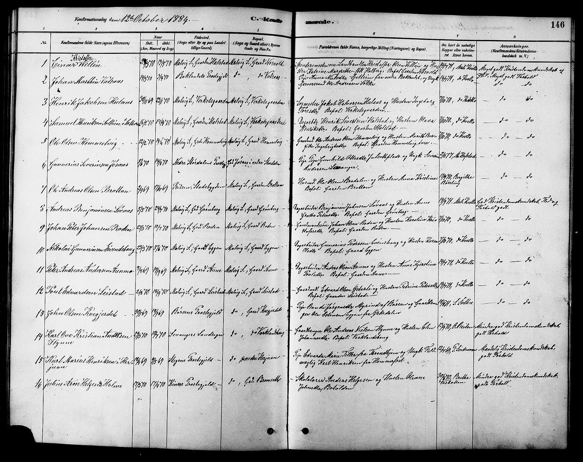 SAT, Ministerialprotokoller, klokkerbøker og fødselsregistre - Sør-Trøndelag, 616/L0423: Klokkerbok nr. 616C06, 1878-1903, s. 146