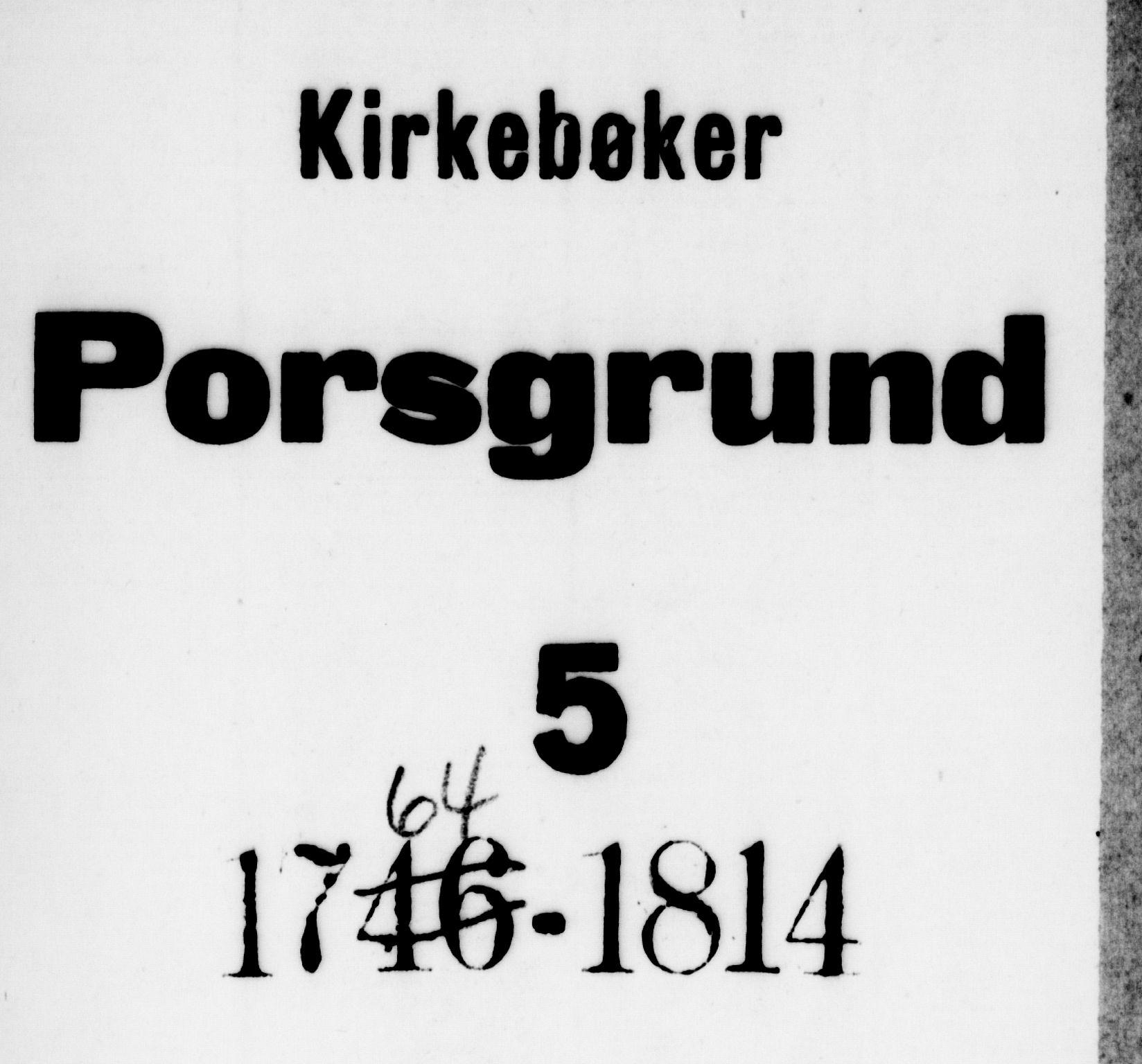 SAKO, Porsgrunn kirkebøker , F/Fa/L0002: Ministerialbok nr. 2, 1764-1814