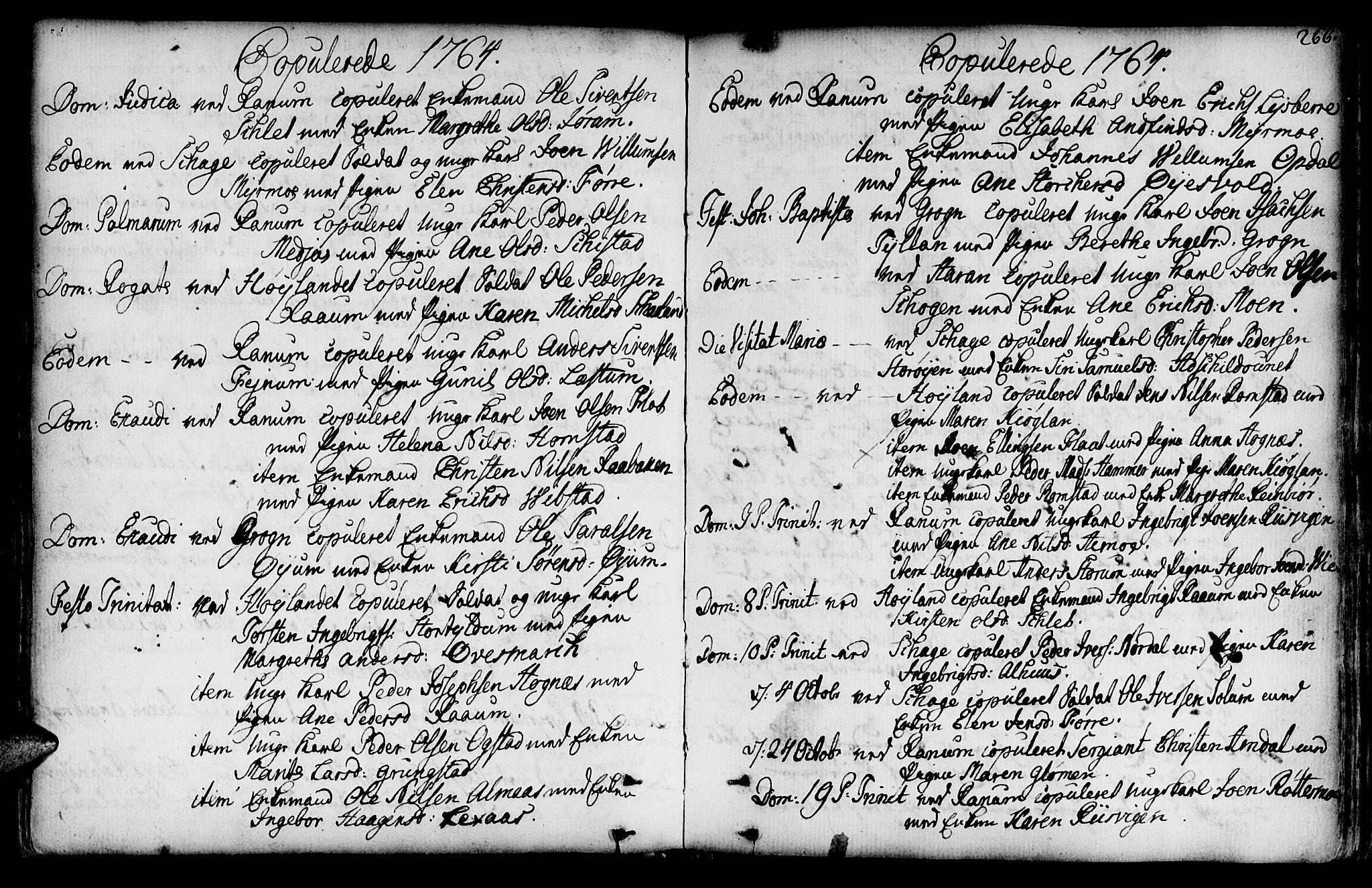 SAT, Ministerialprotokoller, klokkerbøker og fødselsregistre - Nord-Trøndelag, 764/L0542: Ministerialbok nr. 764A02, 1748-1779, s. 266