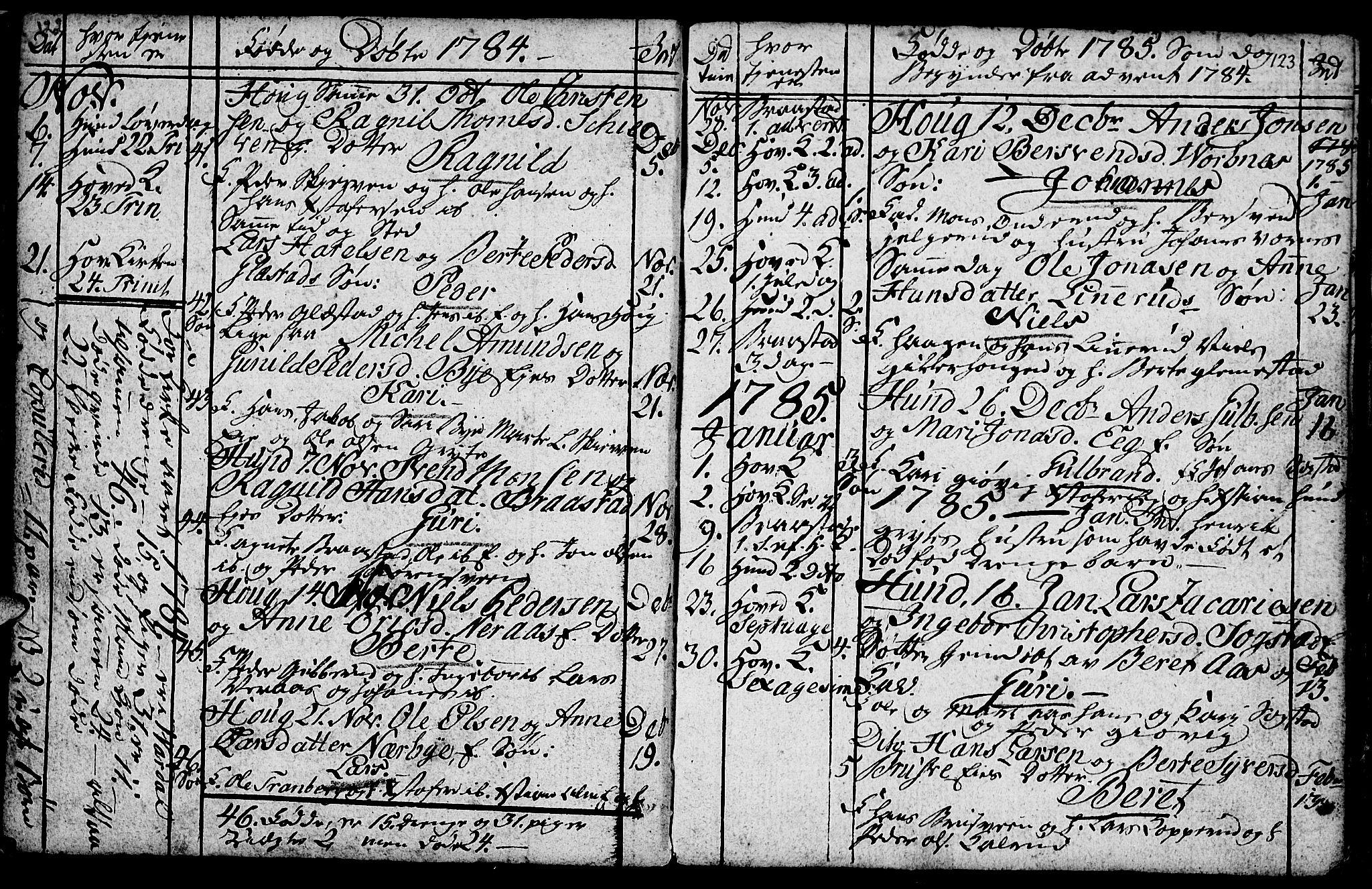SAH, Vardal prestekontor, H/Ha/Hab/L0001: Klokkerbok nr. 1, 1771-1790, s. 122-123