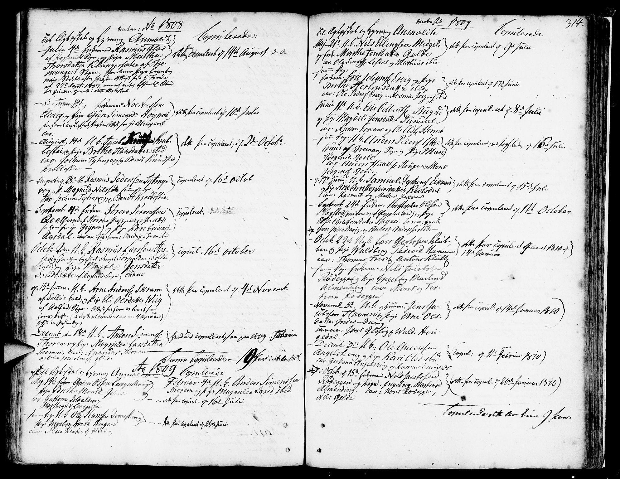 SAB, Davik Sokneprestembete, Ministerialbok nr. A 2, 1742-1816, s. 314