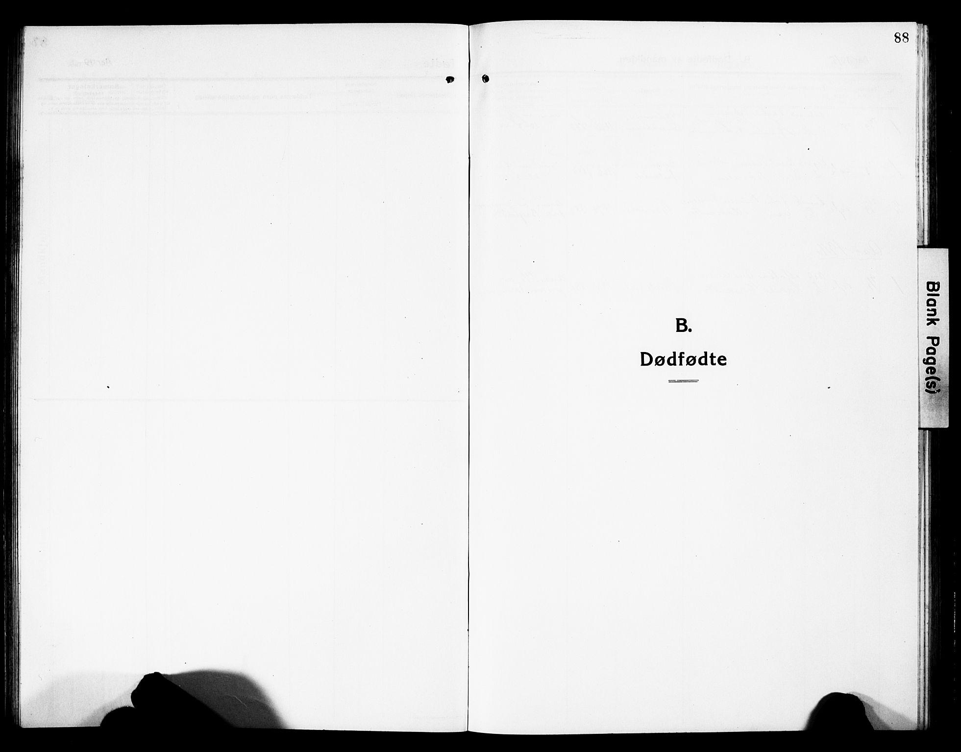 SAH, Vardal prestekontor, H/Ha/Hab/L0015: Klokkerbok nr. 15, 1914-1931, s. 88