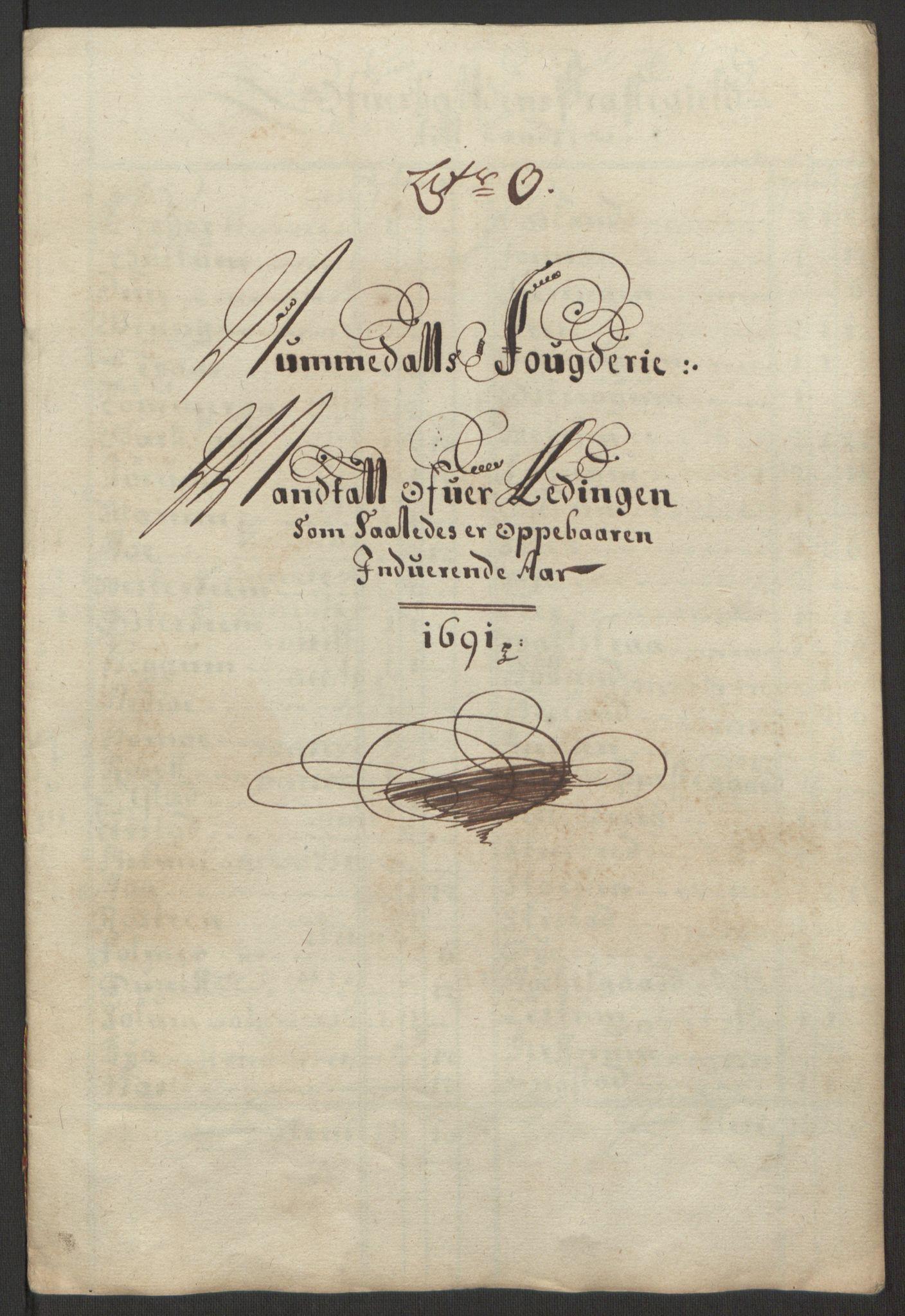 RA, Rentekammeret inntil 1814, Reviderte regnskaper, Fogderegnskap, R64/L4423: Fogderegnskap Namdal, 1690-1691, s. 296