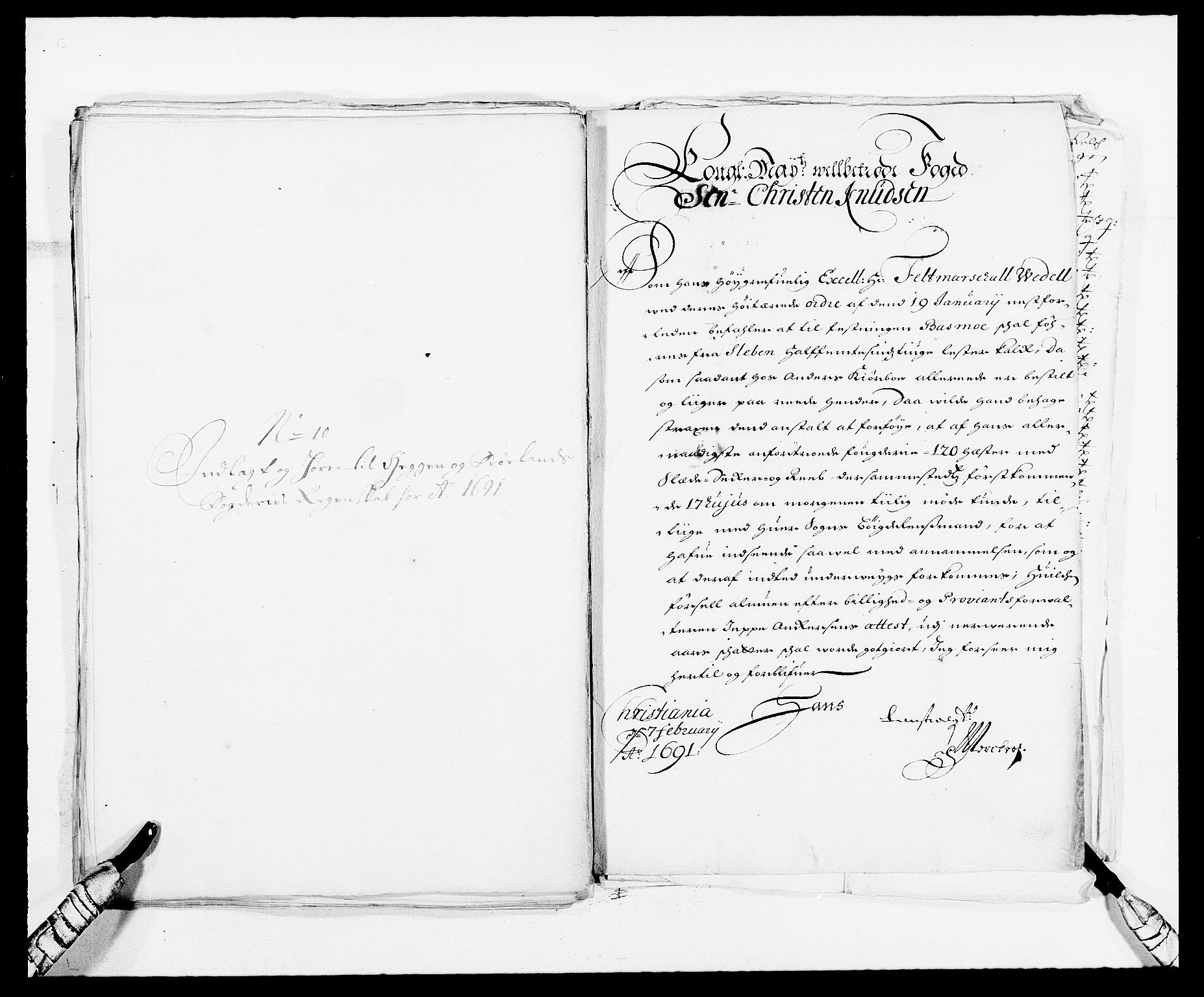 RA, Rentekammeret inntil 1814, Reviderte regnskaper, Fogderegnskap, R06/L0283: Fogderegnskap Heggen og Frøland, 1691-1693, s. 107