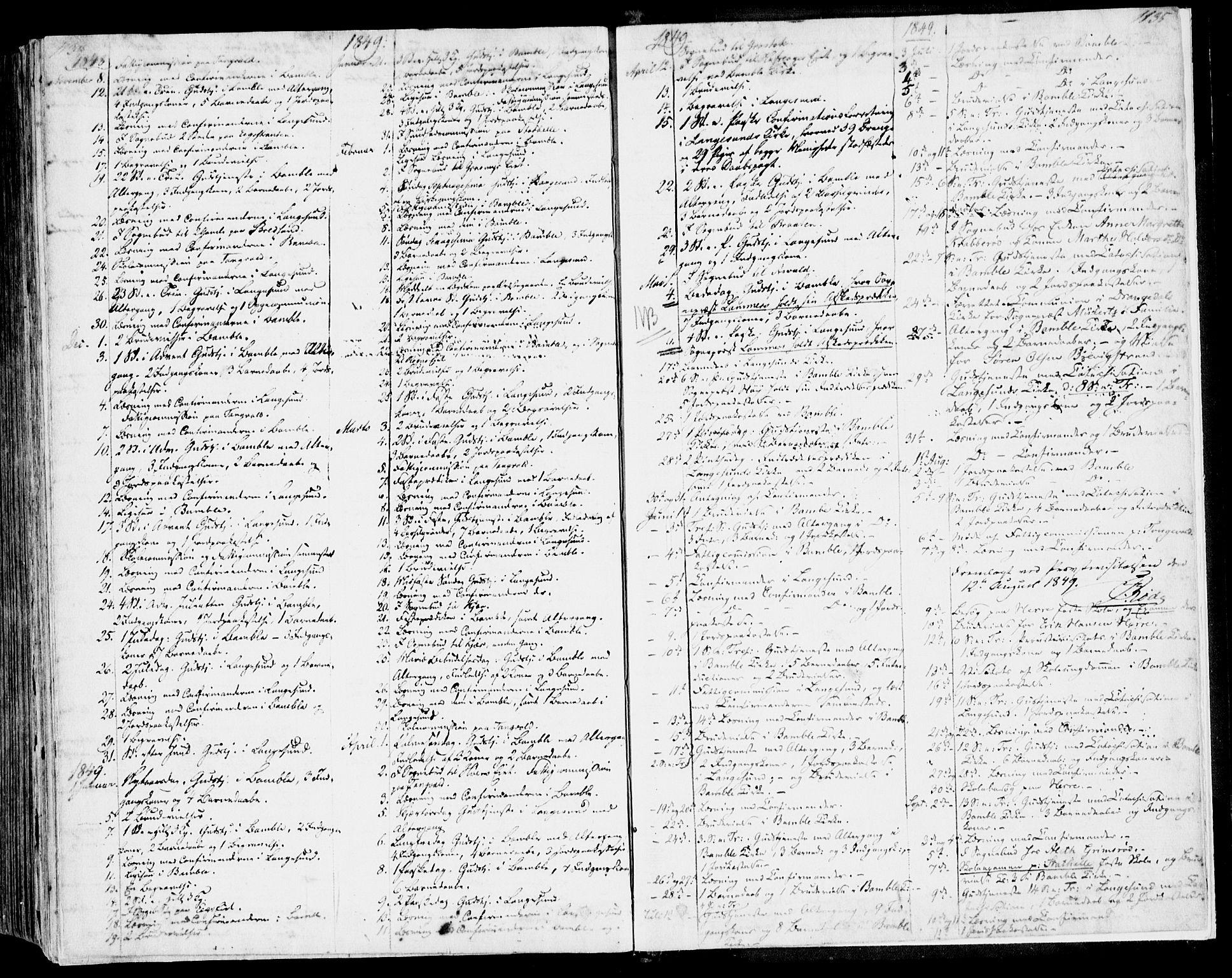 SAKO, Bamble kirkebøker, F/Fa/L0004: Ministerialbok nr. I 4, 1834-1853, s. 1134-1135