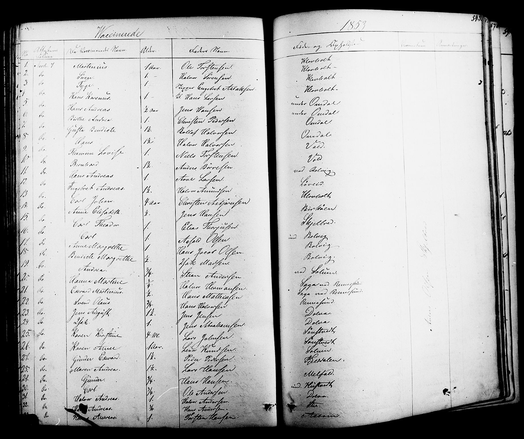 SAKO, Solum kirkebøker, F/Fa/L0006: Ministerialbok nr. I 6, 1844-1855, s. 543