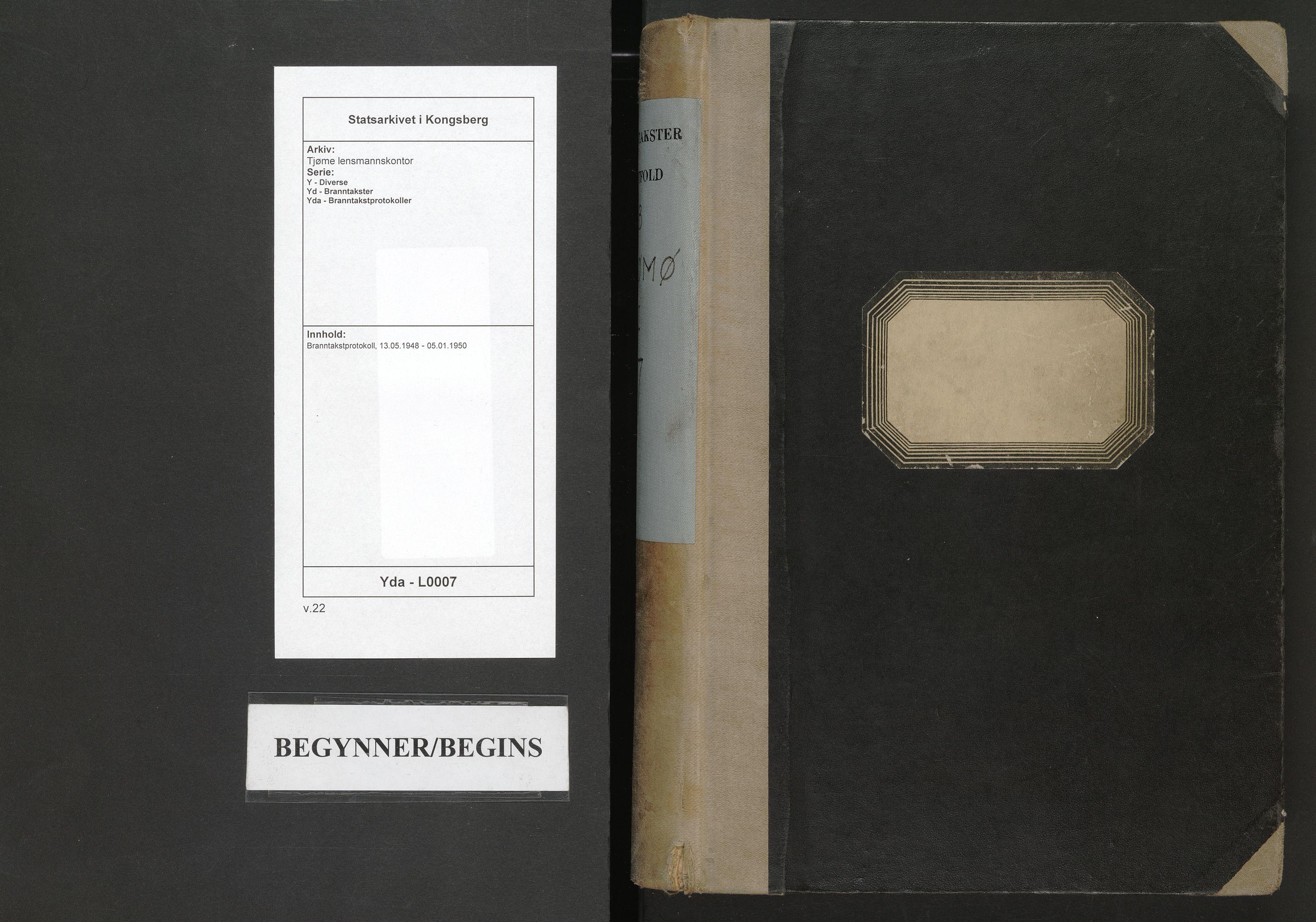 SAKO, Tjøme lensmannskontor, Y/Yd/Yda/L0007: Branntakstprotokoll, 1948-1950