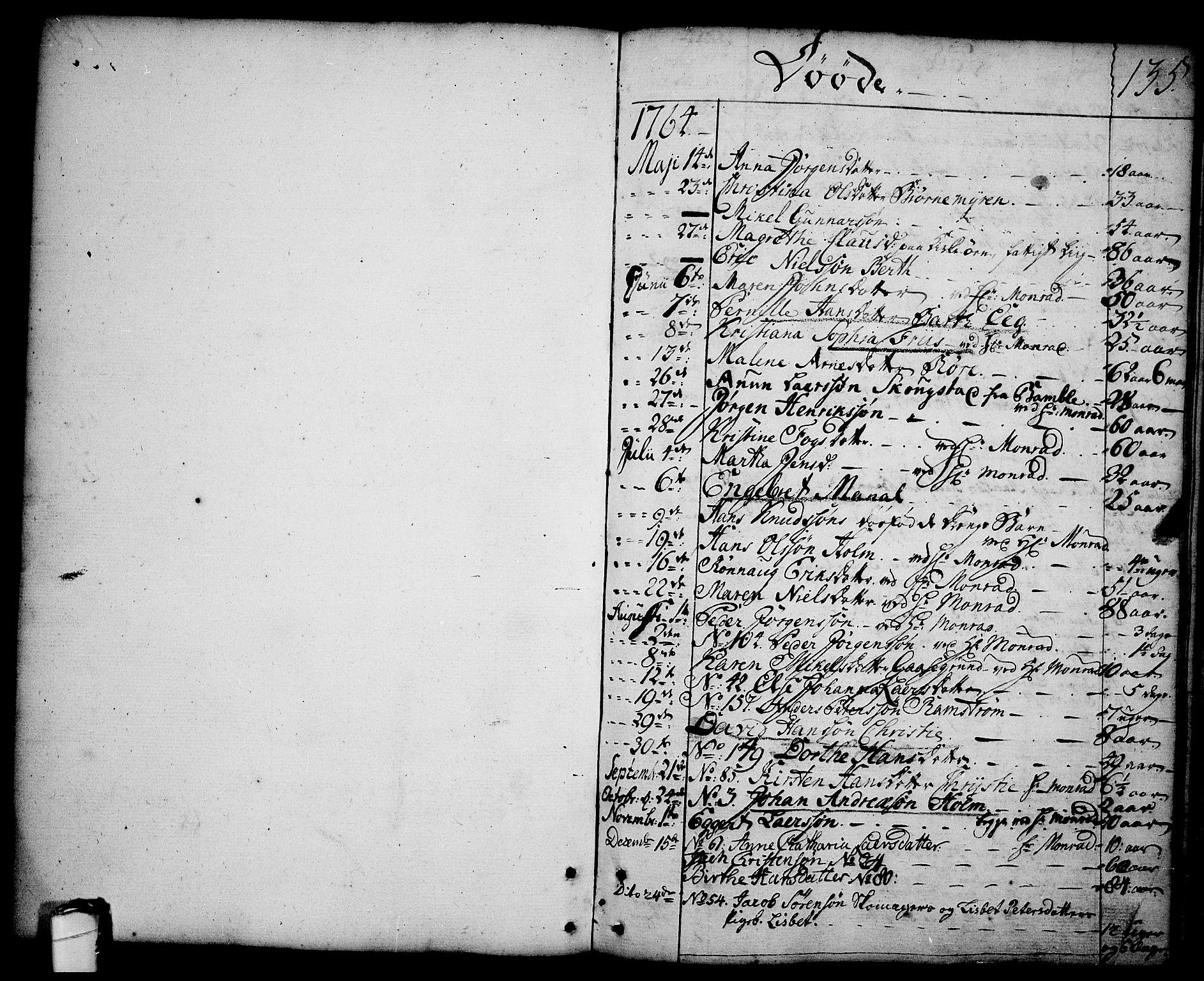 SAKO, Brevik kirkebøker, F/Fa/L0003: Ministerialbok nr. 3, 1764-1814, s. 135
