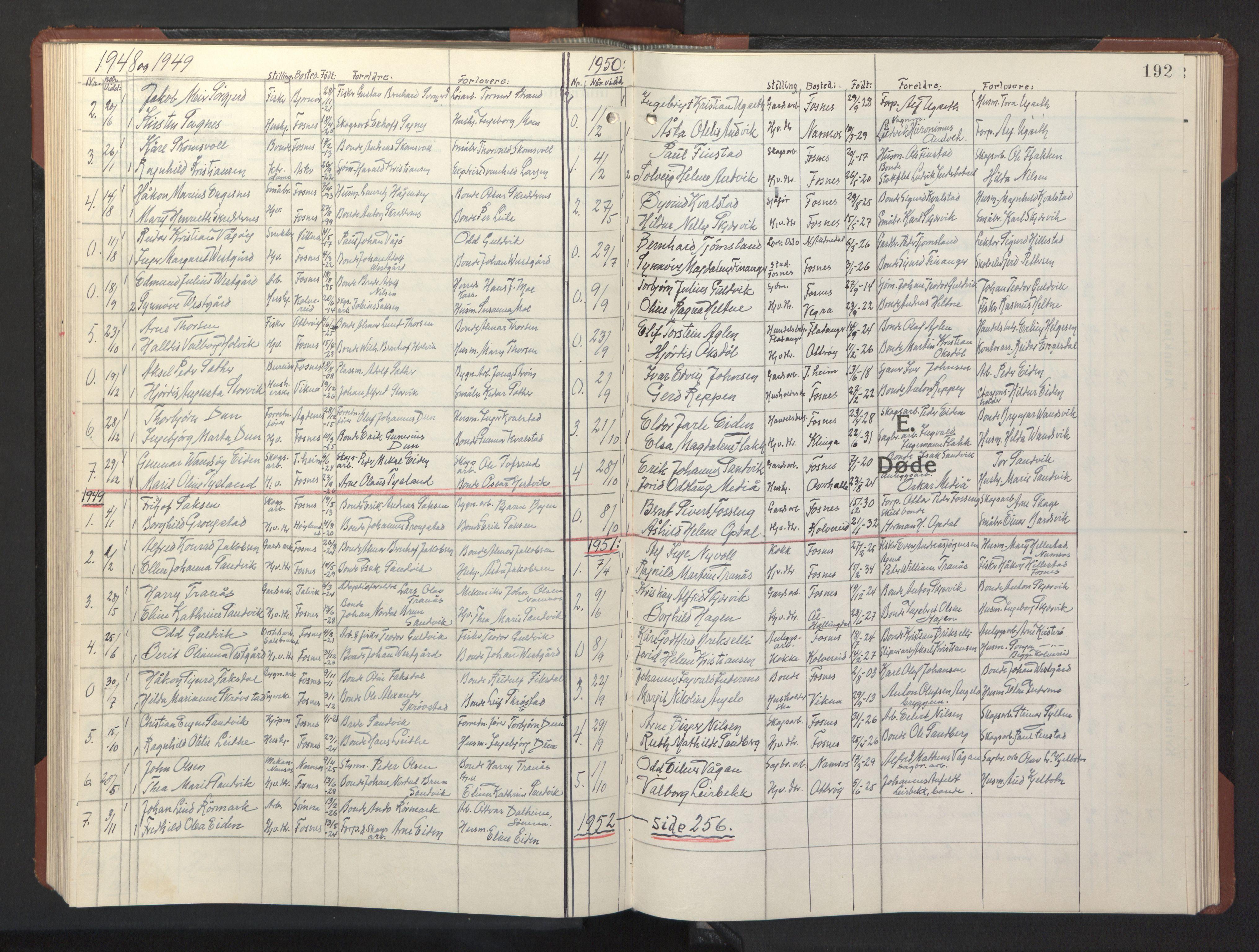 SAT, Ministerialprotokoller, klokkerbøker og fødselsregistre - Nord-Trøndelag, 773/L0625: Klokkerbok nr. 773C01, 1910-1952, s. 192