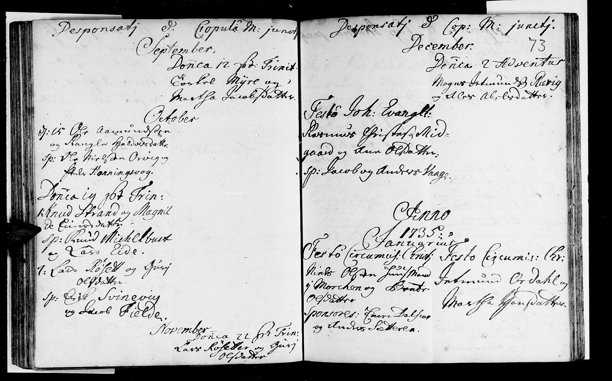 SAB, Selje sokneprestembete*, Ministerialbok nr. A 3, 1731-1743, s. 73