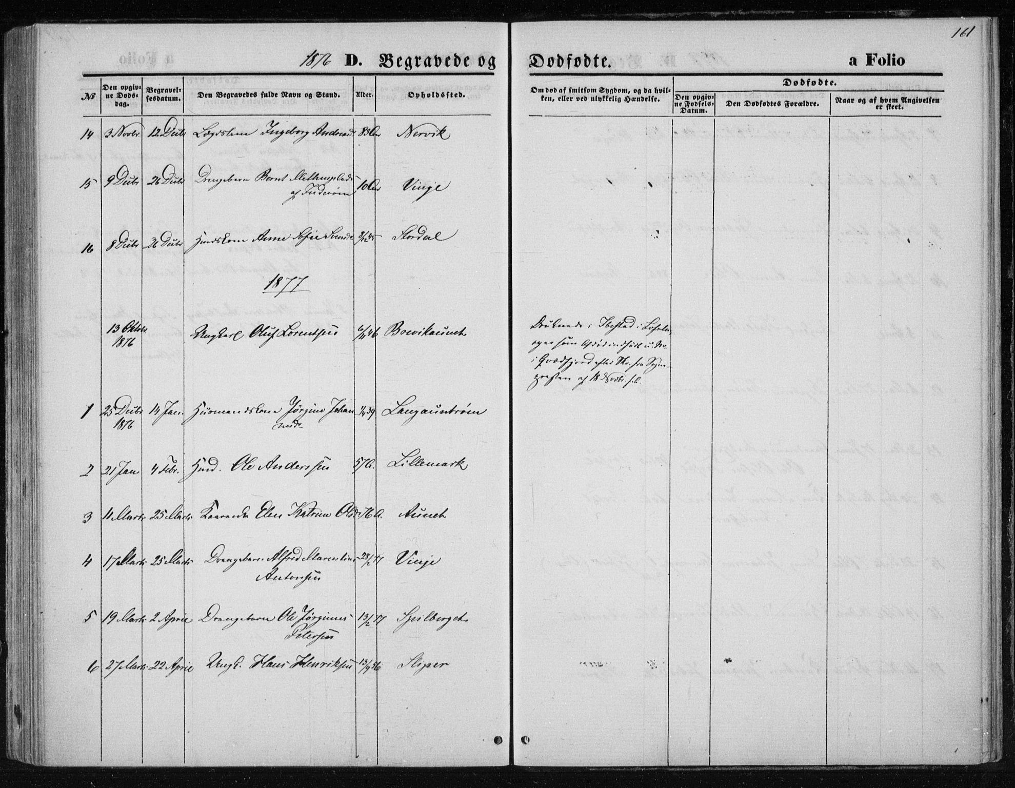 SAT, Ministerialprotokoller, klokkerbøker og fødselsregistre - Nord-Trøndelag, 733/L0324: Ministerialbok nr. 733A03, 1870-1883, s. 161