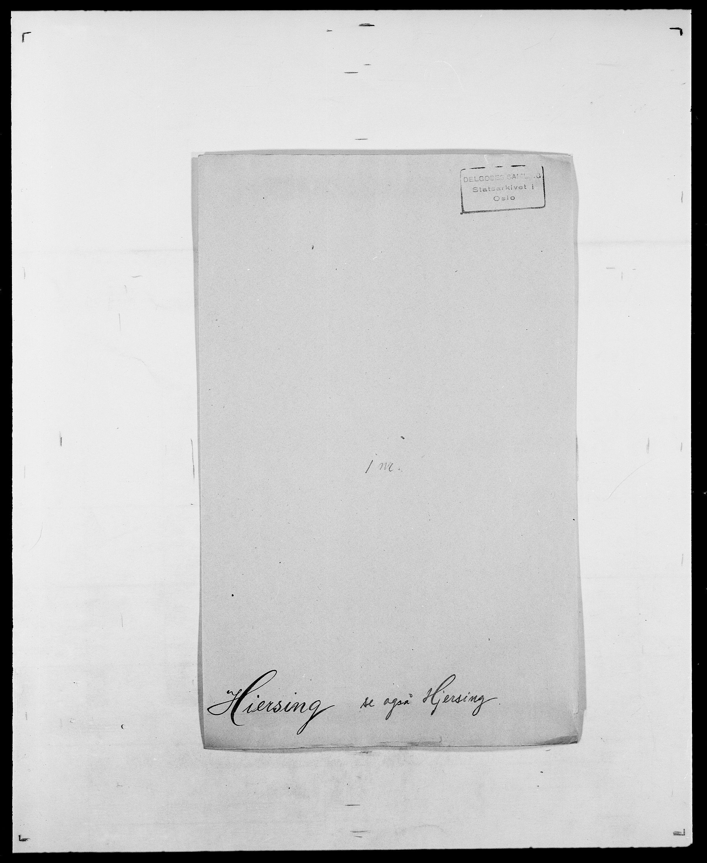 SAO, Delgobe, Charles Antoine - samling, D/Da/L0017: Helander - Hjørne, s. 417