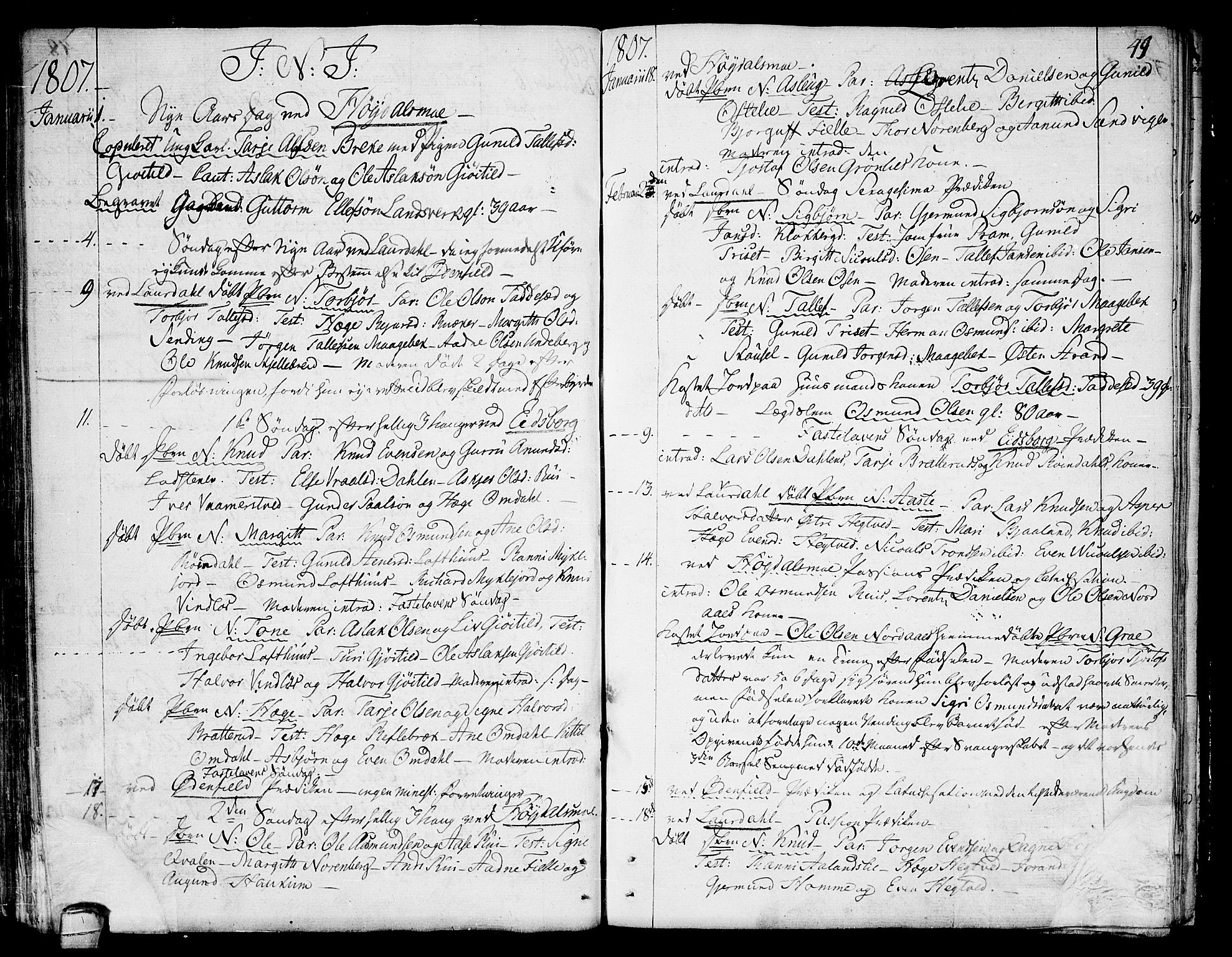 SAKO, Lårdal kirkebøker, F/Fa/L0004: Ministerialbok nr. I 4, 1790-1814, s. 49