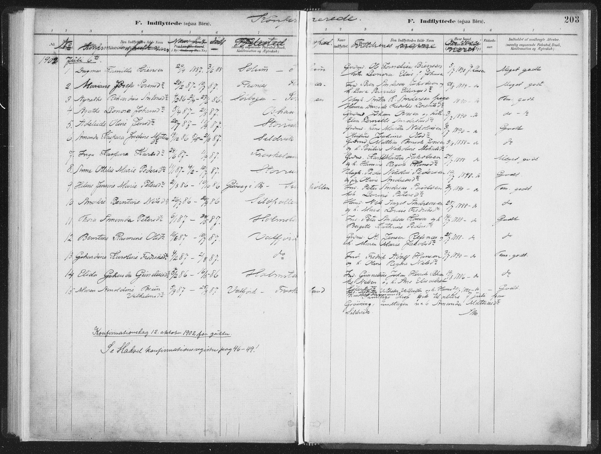 SAT, Ministerialprotokoller, klokkerbøker og fødselsregistre - Nordland, 890/L1286: Ministerialbok nr. 890A01, 1882-1902, s. 203