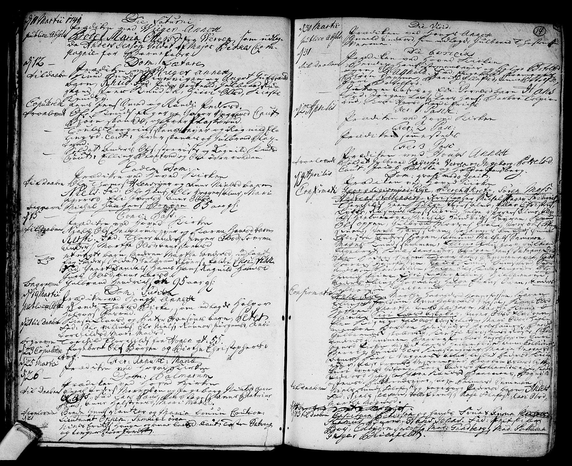 SAKO, Norderhov kirkebøker, F/Fa/L0003a: Ministerialbok nr. 3, 1740-1757, s. 14