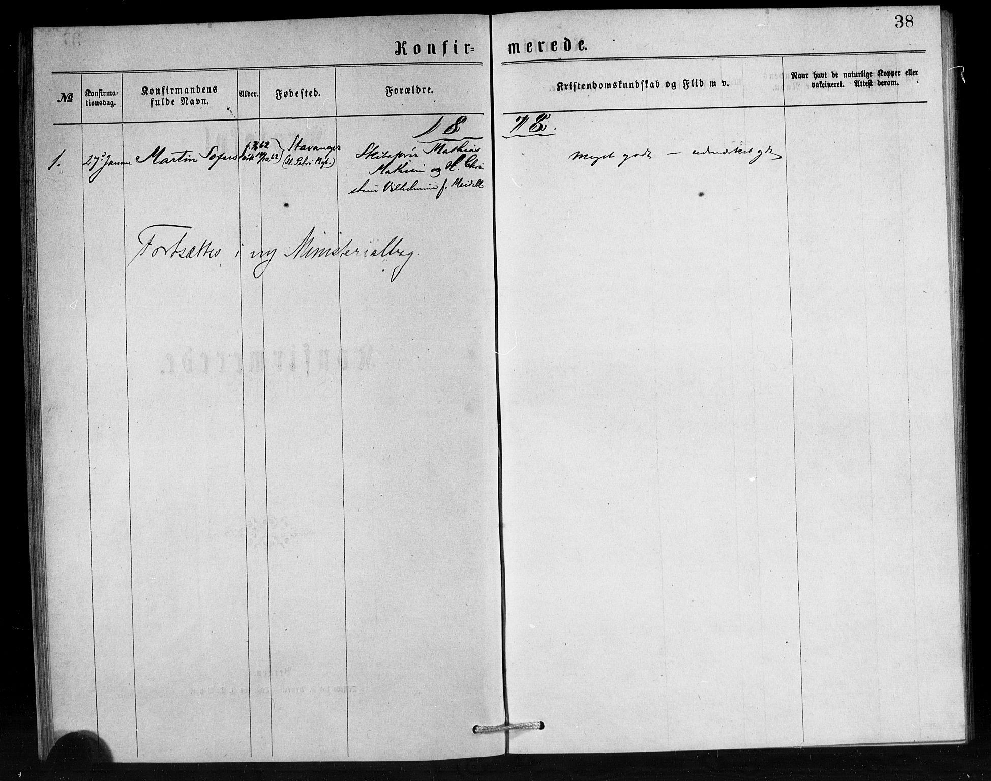 SAB, Den Norske Sjømannsmisjon i utlandet*, Ministerialbok nr. A 1, 1876-1887, s. 38