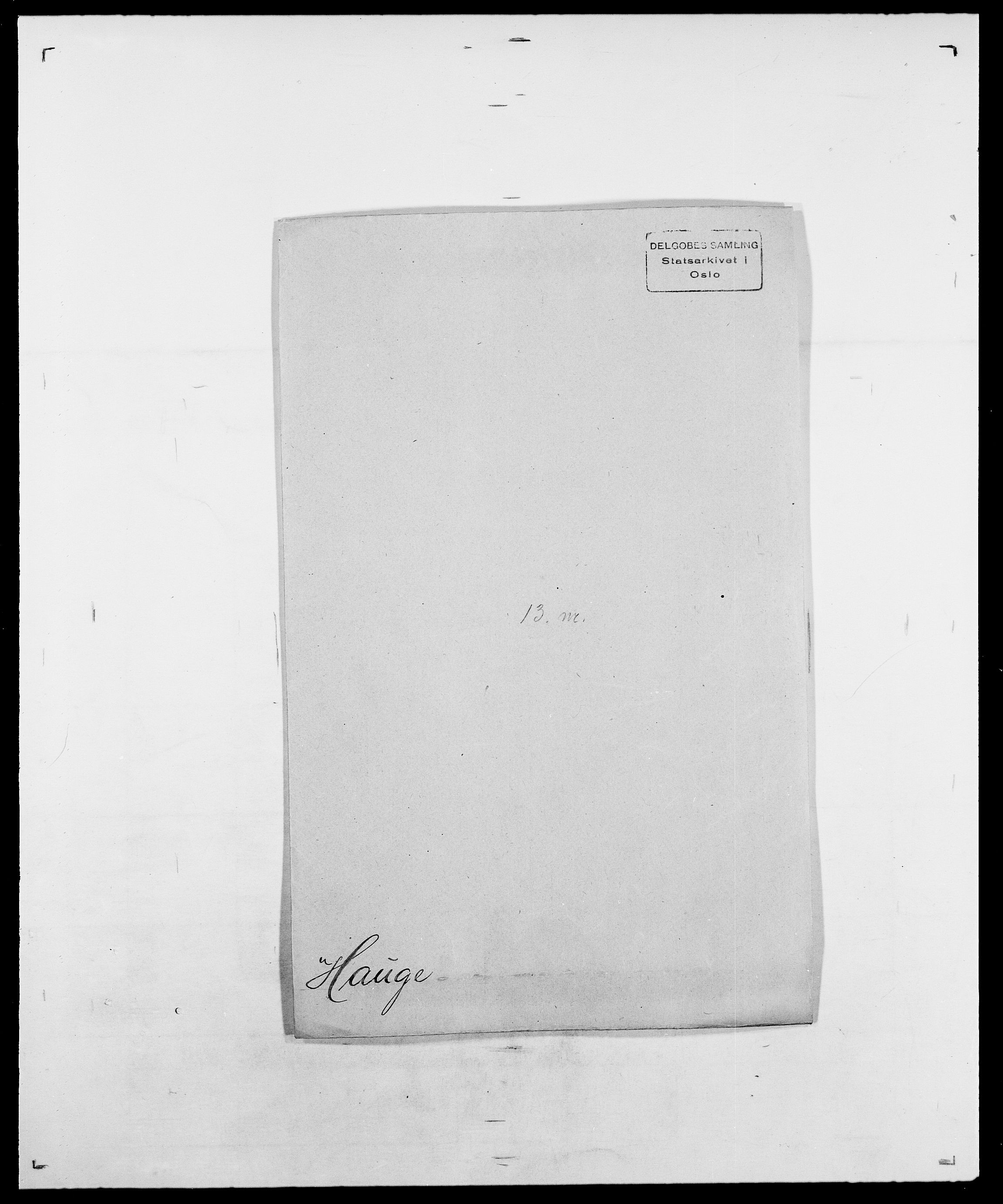 SAO, Delgobe, Charles Antoine - samling, D/Da/L0016: Hamborg - Hektoen, s. 601