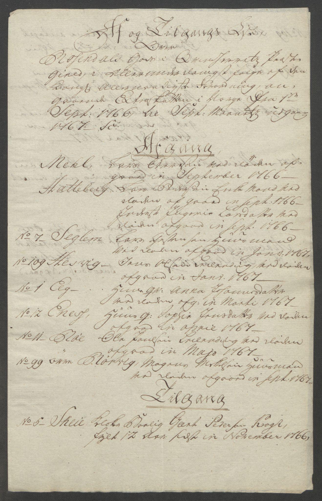 RA, Rentekammeret inntil 1814, Reviderte regnskaper, Fogderegnskap, R49/L3157: Ekstraskatten Rosendal Baroni, 1762-1772, s. 179