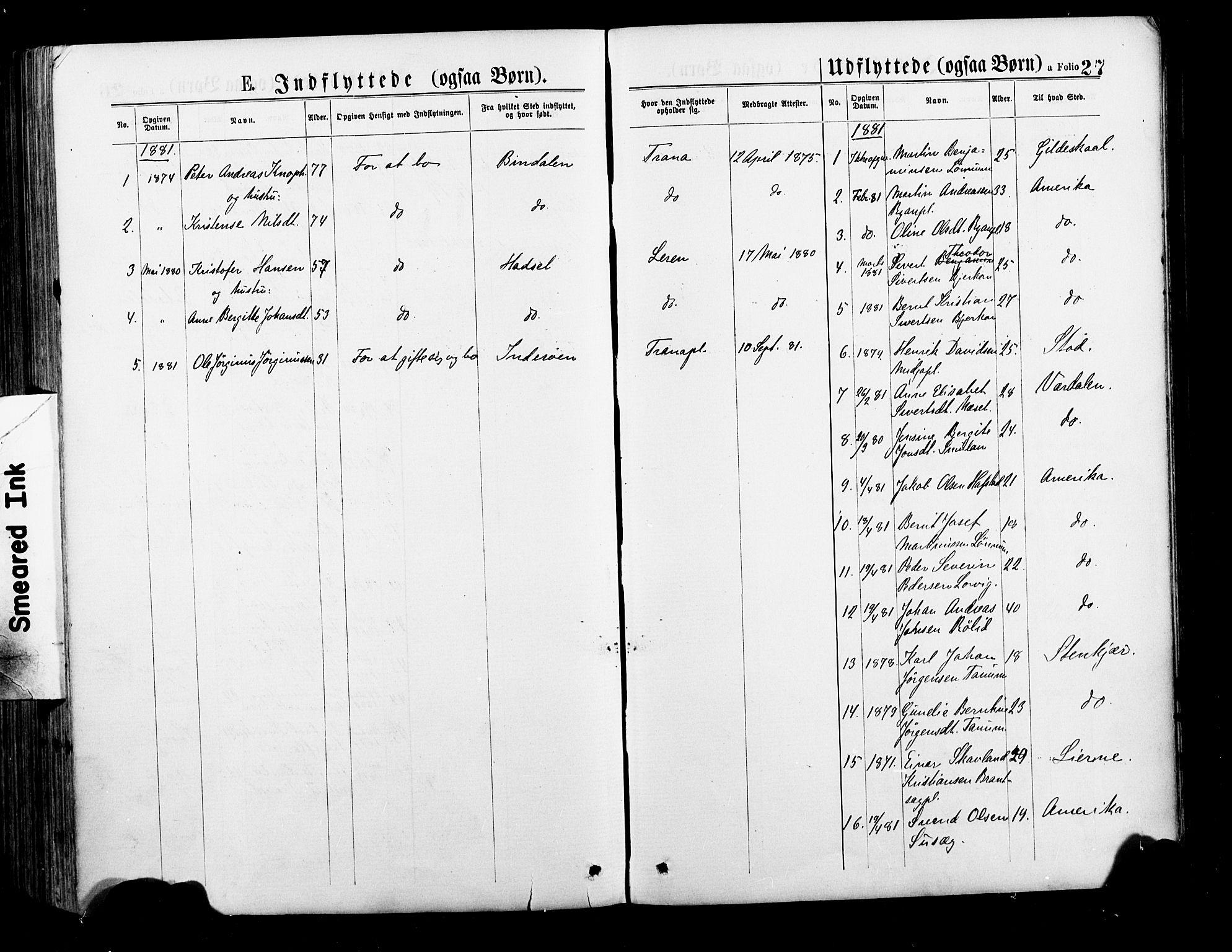 SAT, Ministerialprotokoller, klokkerbøker og fødselsregistre - Nord-Trøndelag, 735/L0348: Ministerialbok nr. 735A09 /1, 1873-1883, s. 27