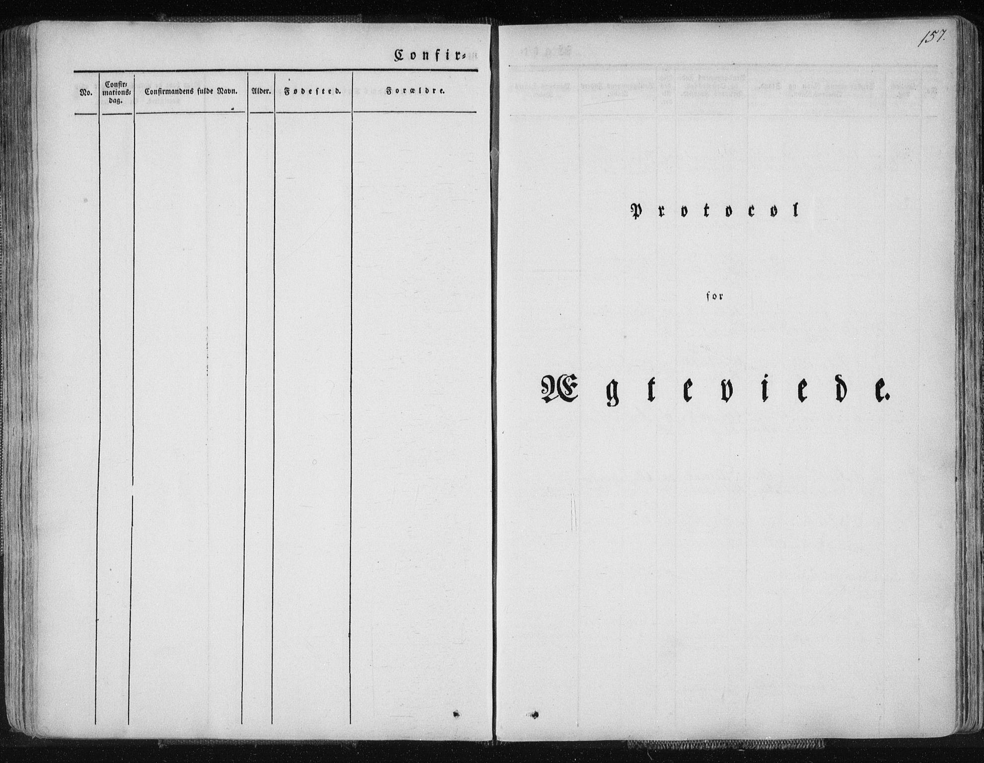 SAT, Ministerialprotokoller, klokkerbøker og fødselsregistre - Nordland, 827/L0390: Ministerialbok nr. 827A02, 1826-1841, s. 157