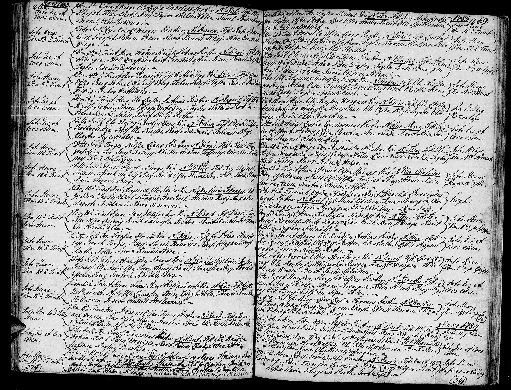 SAT, Ministerialprotokoller, klokkerbøker og fødselsregistre - Sør-Trøndelag, 630/L0489: Ministerialbok nr. 630A02, 1757-1794, s. 268-269
