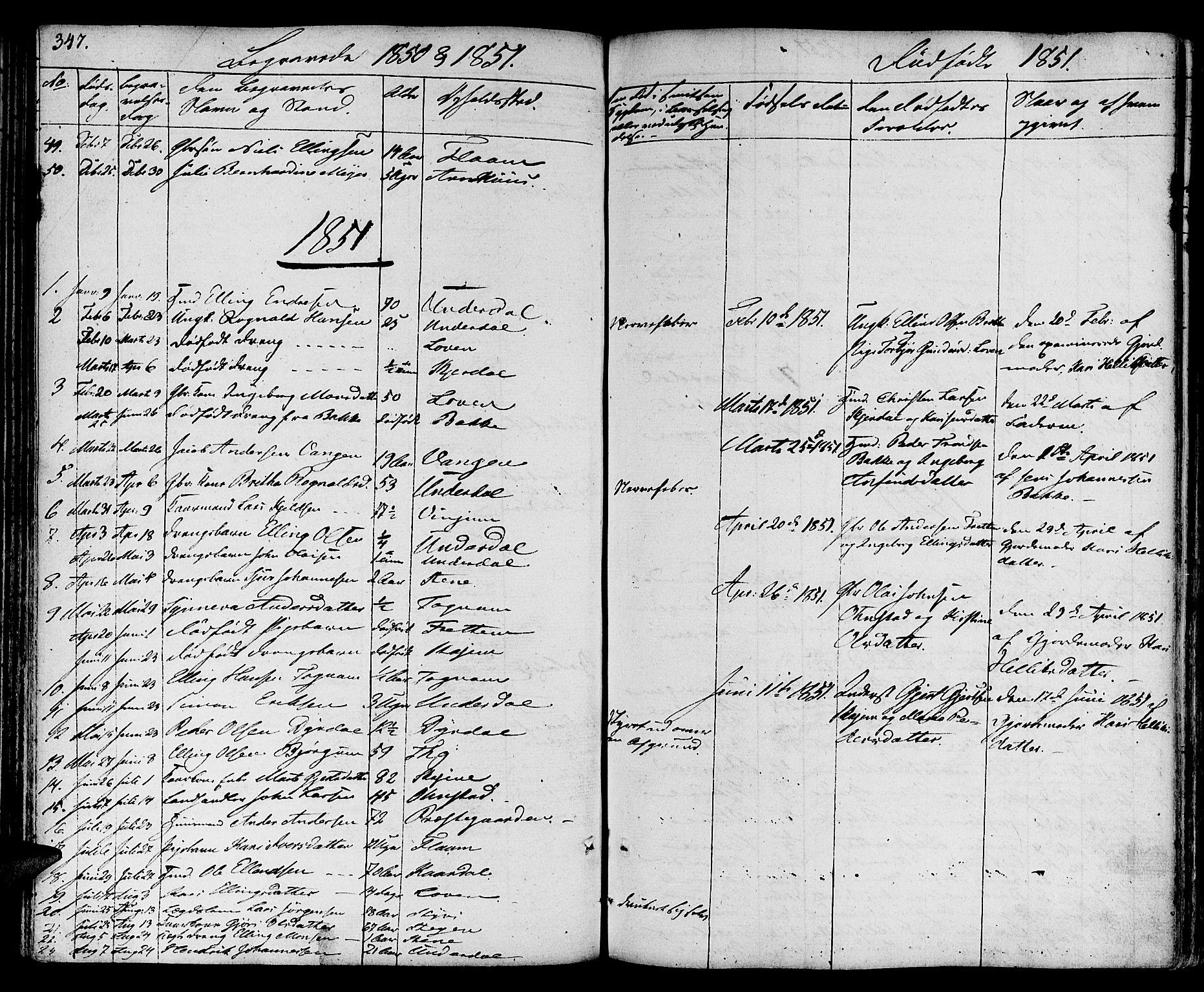 SAB, Aurland Sokneprestembete*, Ministerialbok nr. A 6, 1821-1859, s. 347