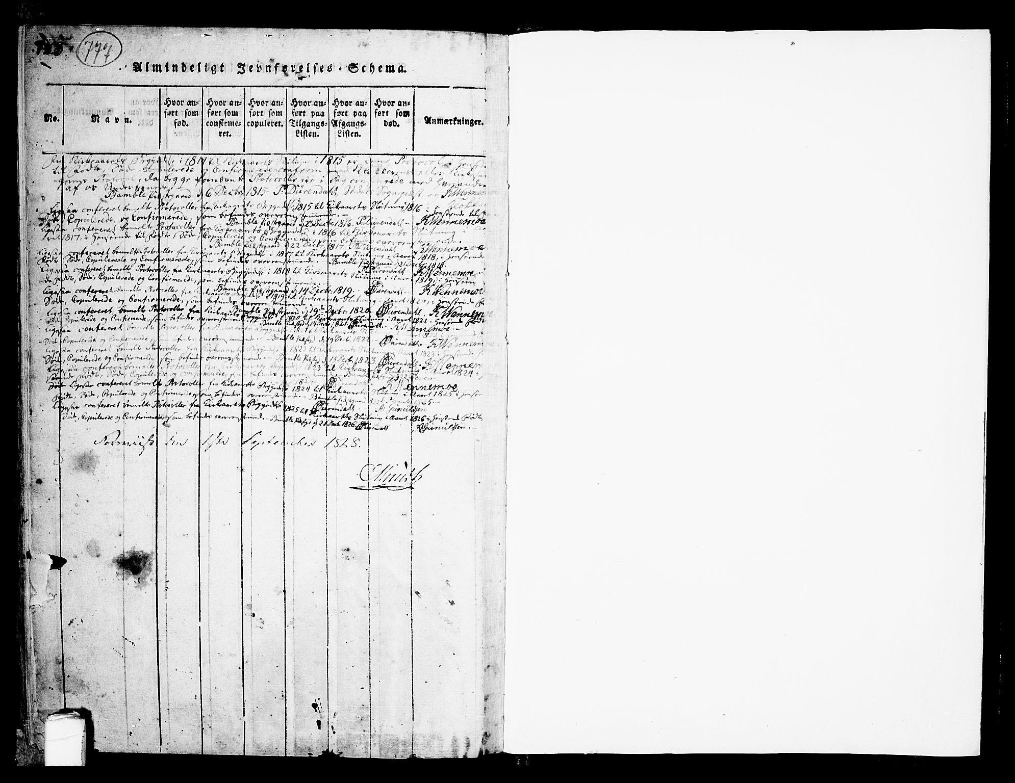 SAKO, Bamble kirkebøker, F/Fa/L0003: Ministerialbok nr. I 3 /1, 1814-1834, s. 777-778