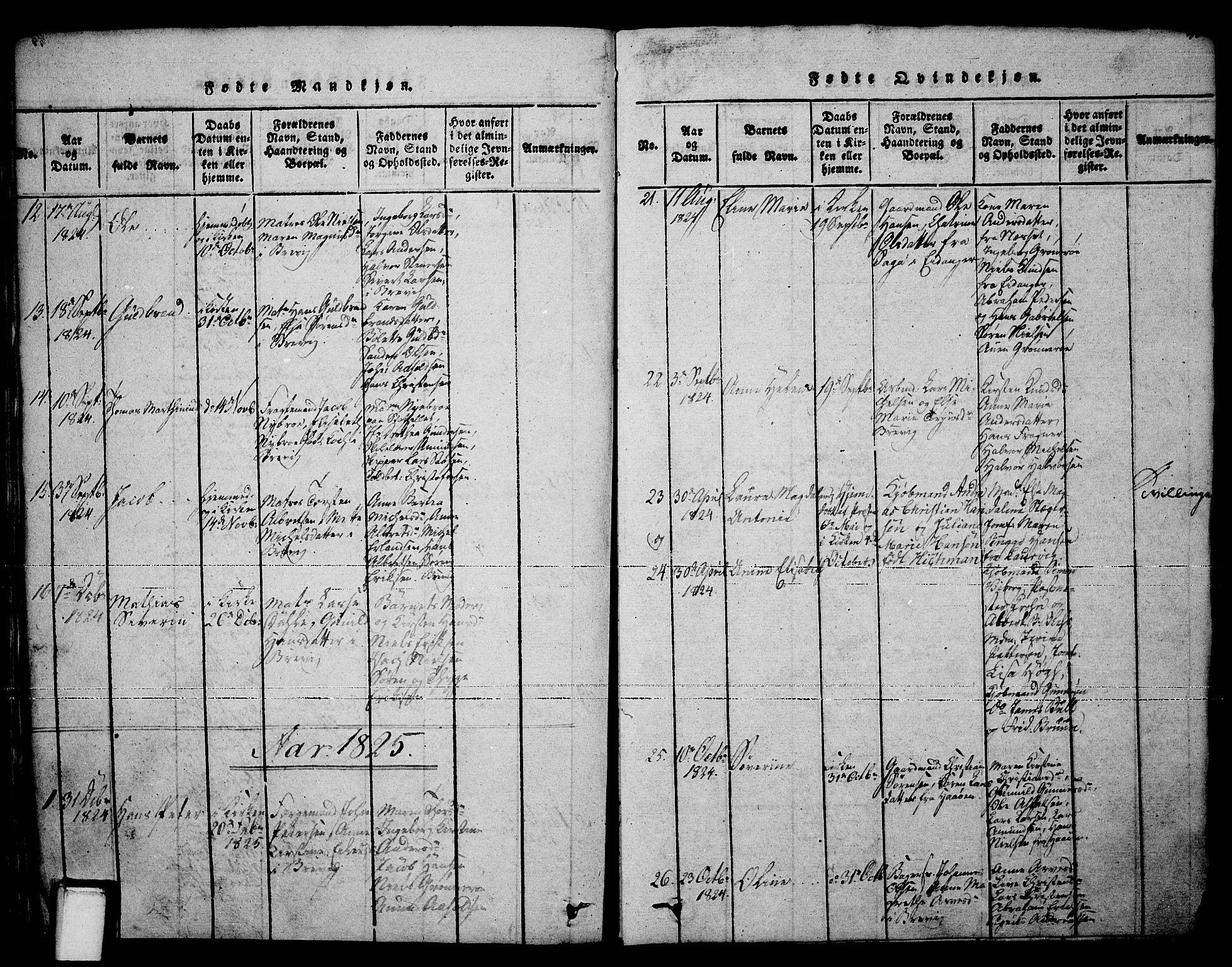 SAKO, Brevik kirkebøker, F/Fa/L0004: Ministerialbok nr. 4, 1814-1846, s. 41