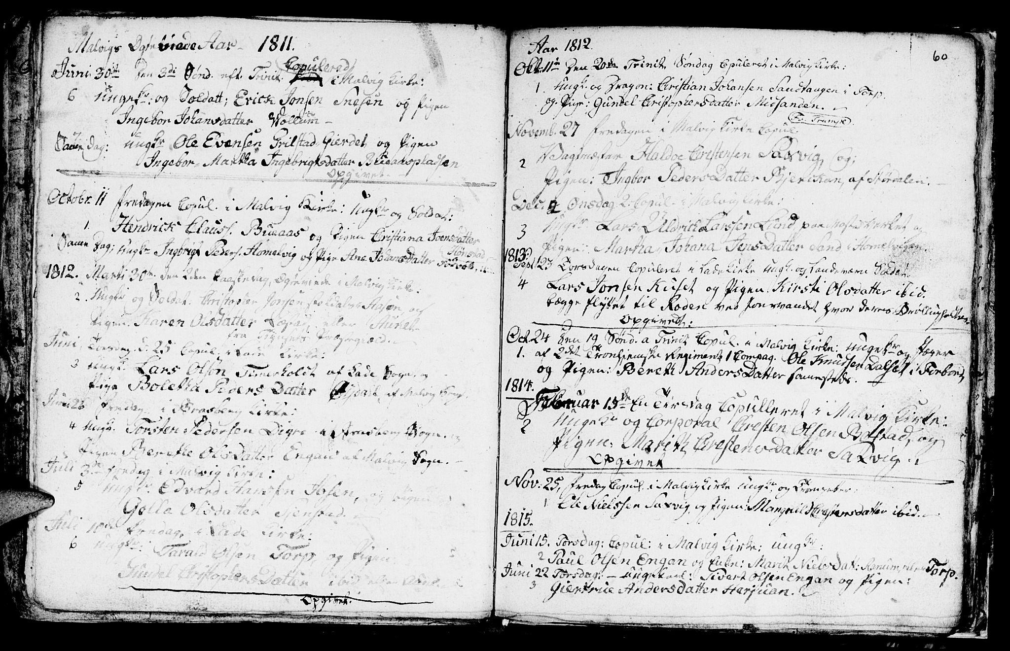 SAT, Ministerialprotokoller, klokkerbøker og fødselsregistre - Sør-Trøndelag, 616/L0419: Klokkerbok nr. 616C02, 1797-1816, s. 60